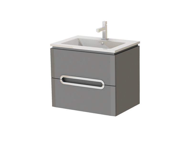 Koupelnová skříňka na stěnu s umyvadlem - Juventa - Prato - Pr-65 G