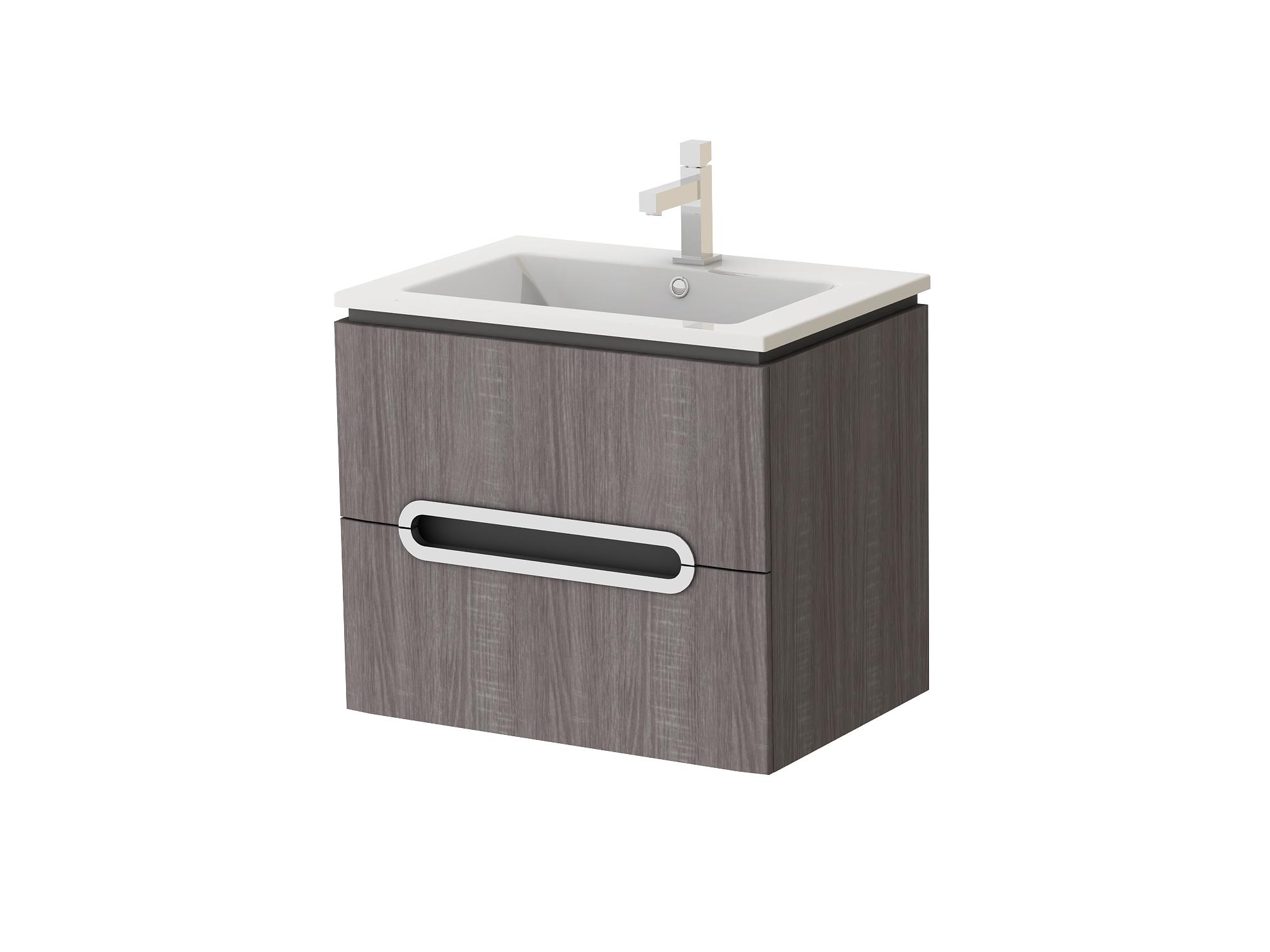 Koupelnová skříňka na stěnu s umyvadlem - Juventa - Prato - Pr-65 TR