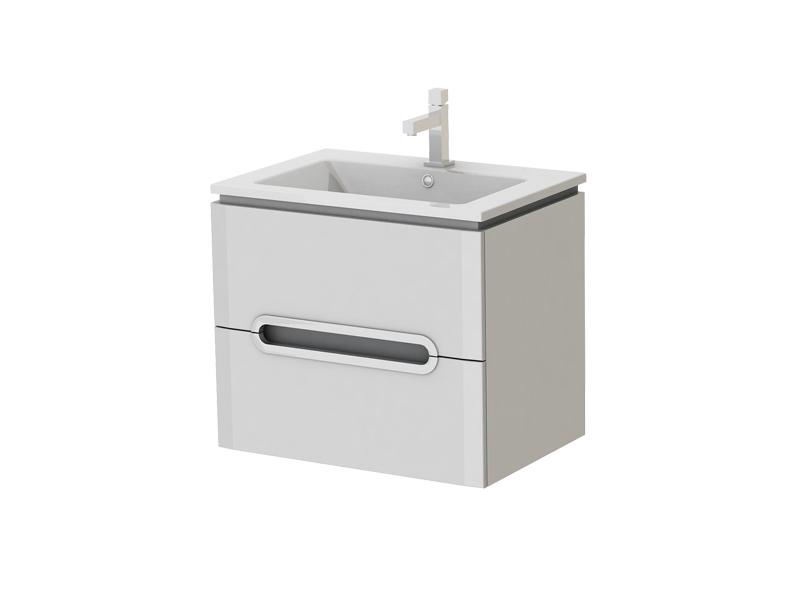 Koupelnová skříňka na stěnu s umyvadlem - Juventa - Prato - Pr-65 W