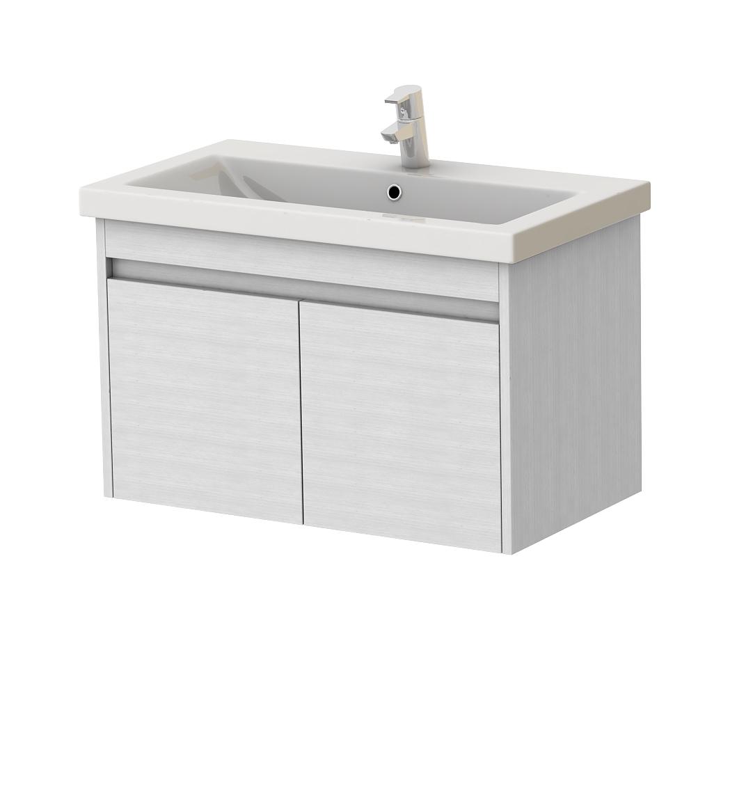 Koupelnová skříňka na stěnu s umyvadlem - Juventa - Ravenna - Rv-80 (bílá)