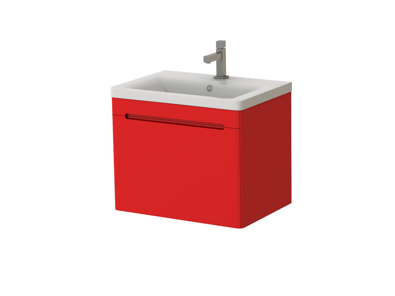 Koupelnová skříňka na stěnu s umyvadlem - Juventa - Tivoli - Tv-65 R