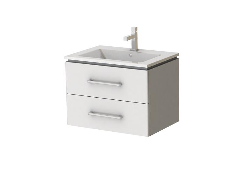 Koupelnová skříňka na stěnu s umyvadlem - Juventa - Zlata - Zl-65 W