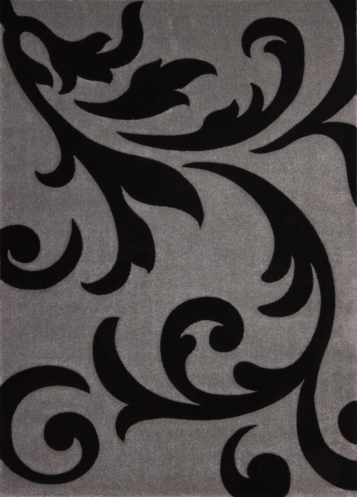 Kusový koberec - Lalee - Lambada Handcarving 451 Silver-Black