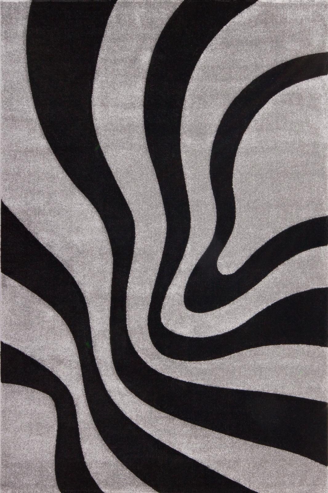 Kusový koberec - Lalee - Lambada Handcarving 452 Black-Silver