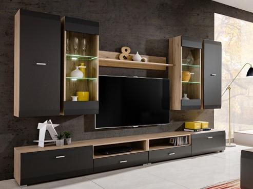 Obývací stěna - MOB - Clif (s LED osvětlením)