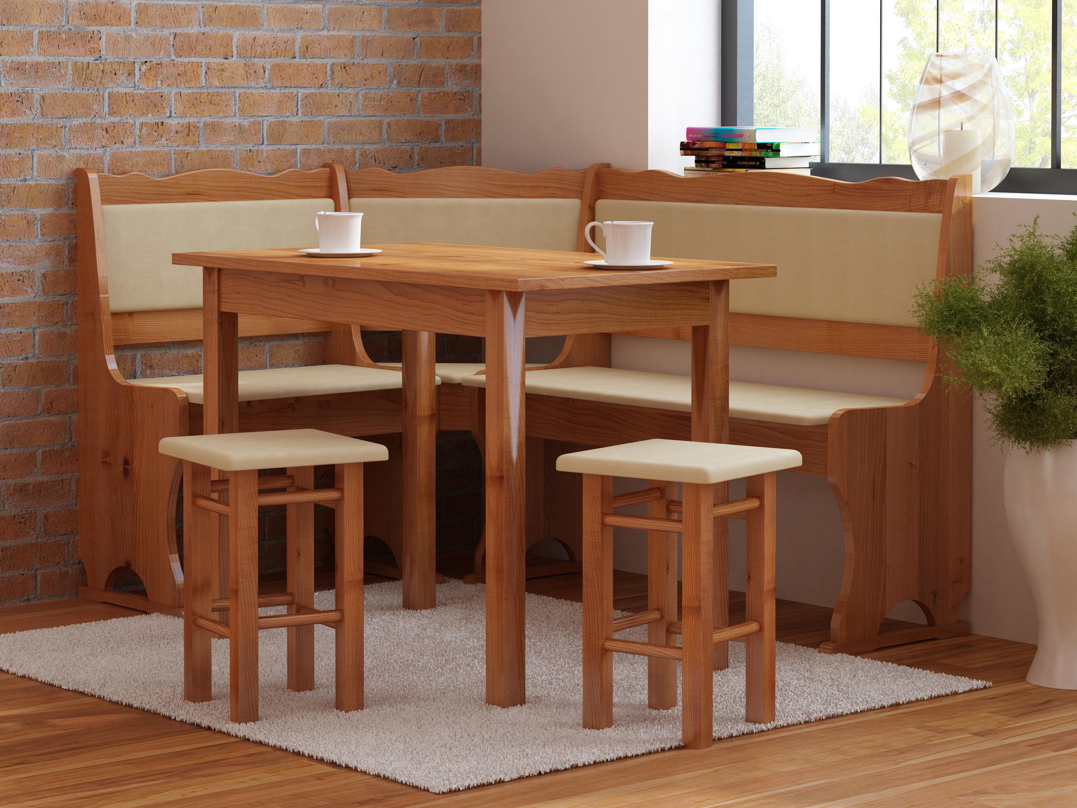 Rohový jídelní set - Mirvik (pro 5 osob) (L)