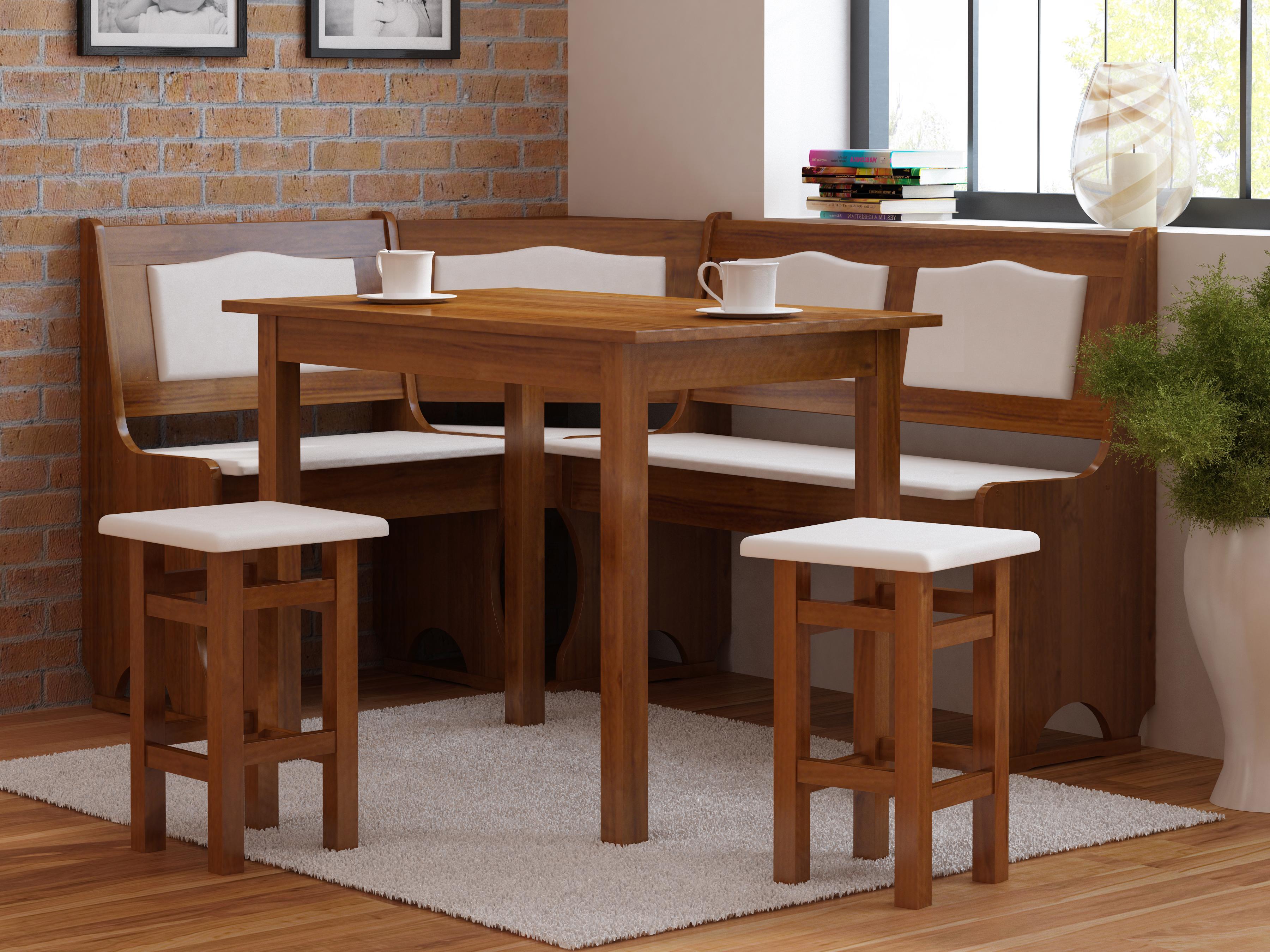 Rohový jídelní set - Monur (pro 5 osob) (L)