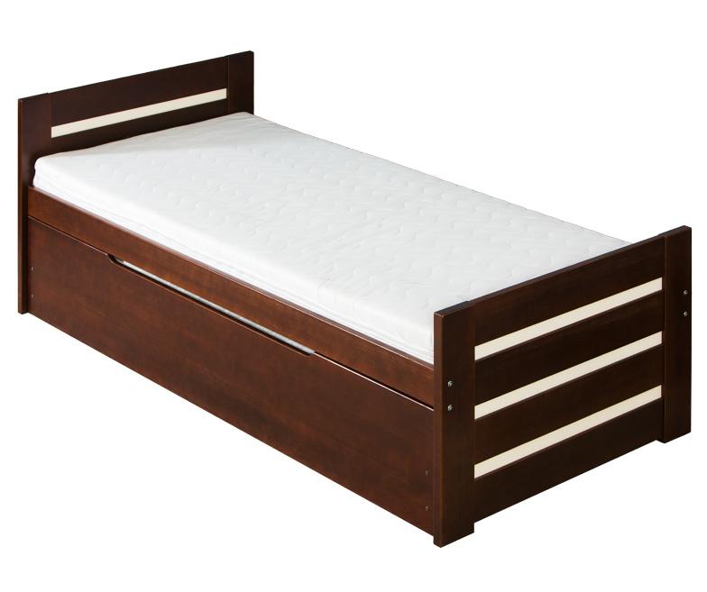 Rozkládací postel 90 cm - Davon (s rošty a úl. prostorem)