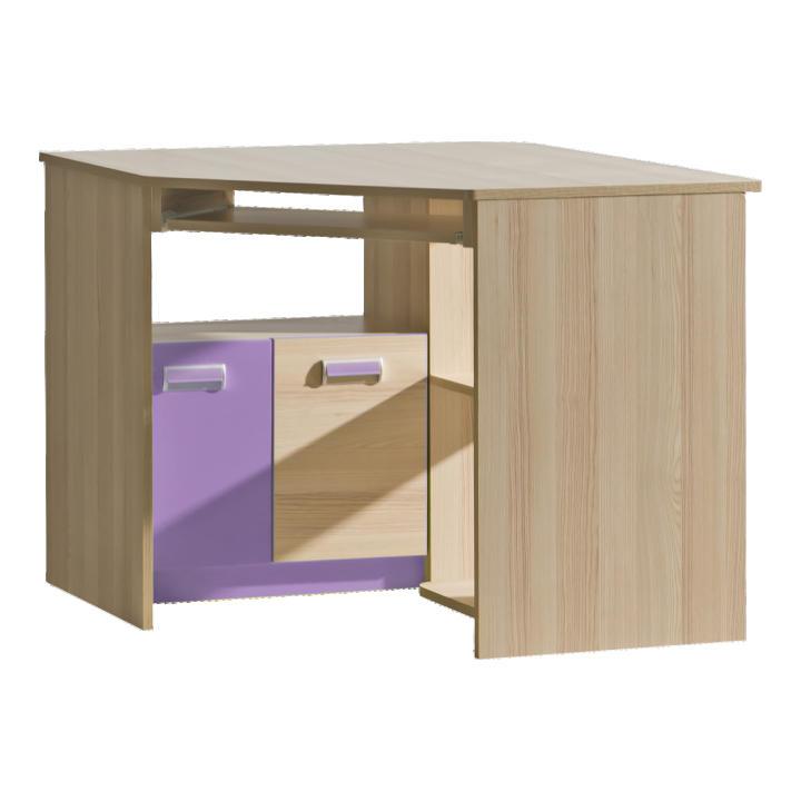 Rohový PC stolek - Lavendon - L11 (fialová)
