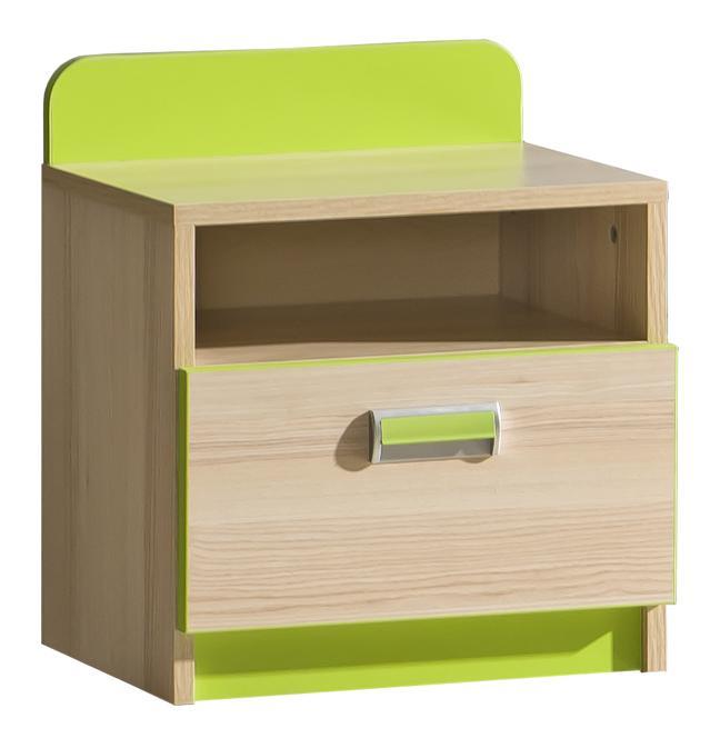 Noční stolek - Lavendon - L12 (zelená)