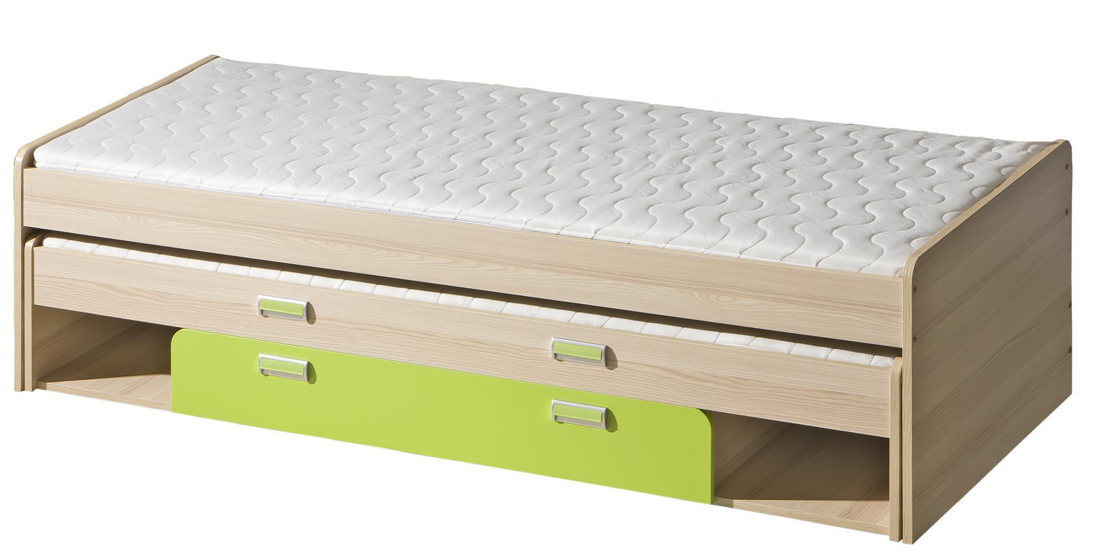 Rozkládací postel 80 cm - Lavendon - L16 (s rošty) (zelená)