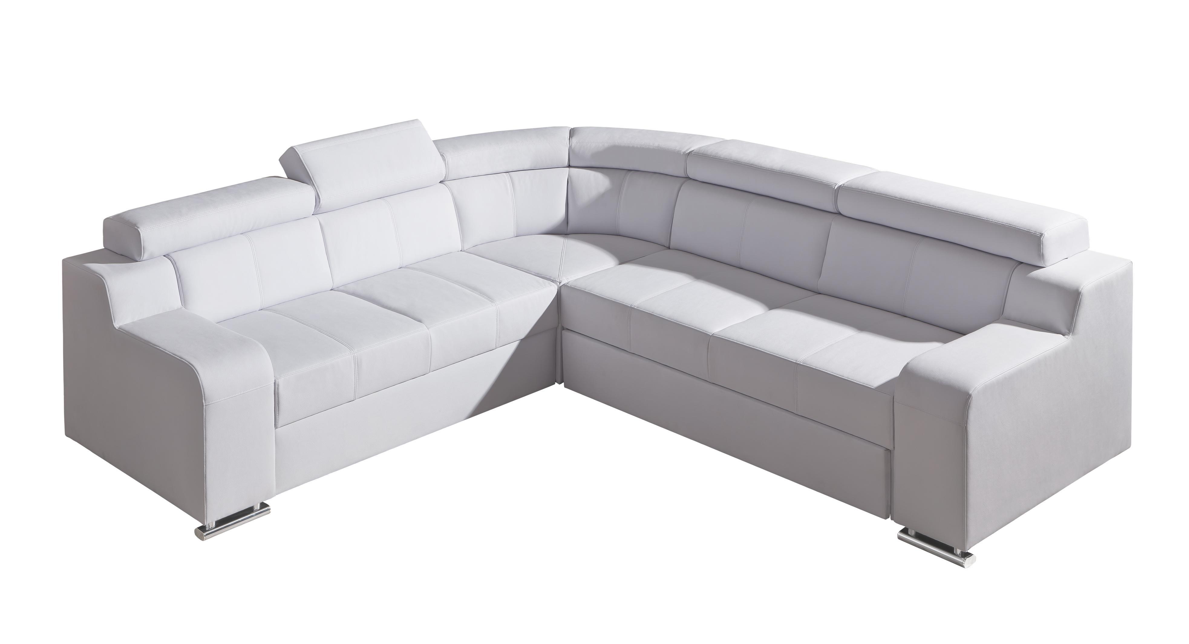 Rohová sedací souprava - Orin 1 (bílá) (L)