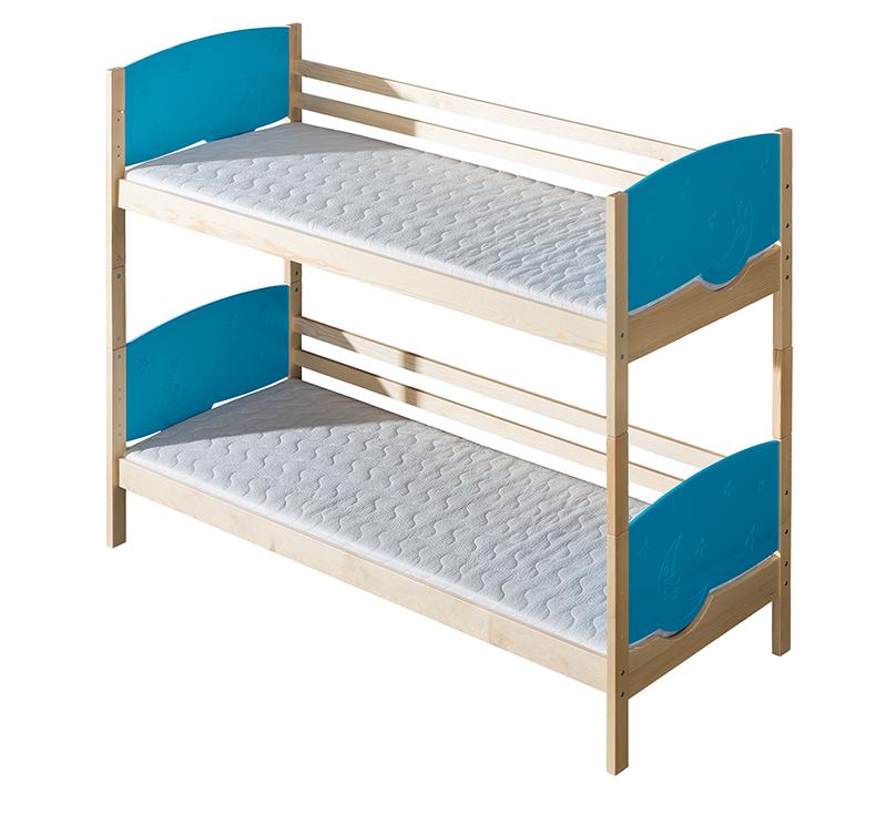 Patrová postel 80 cm - Tini (s rošty)