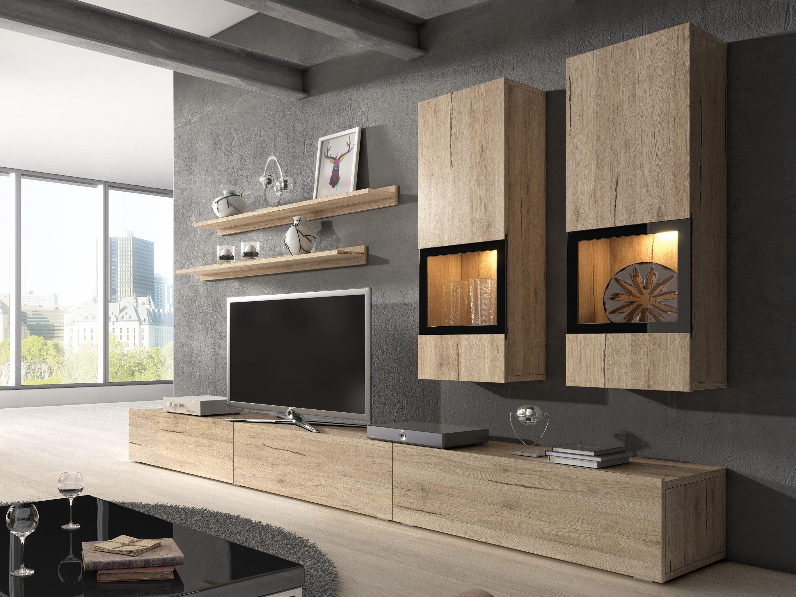 Obývací stěna - Berle - Typ 10 (dub san remo světlý)