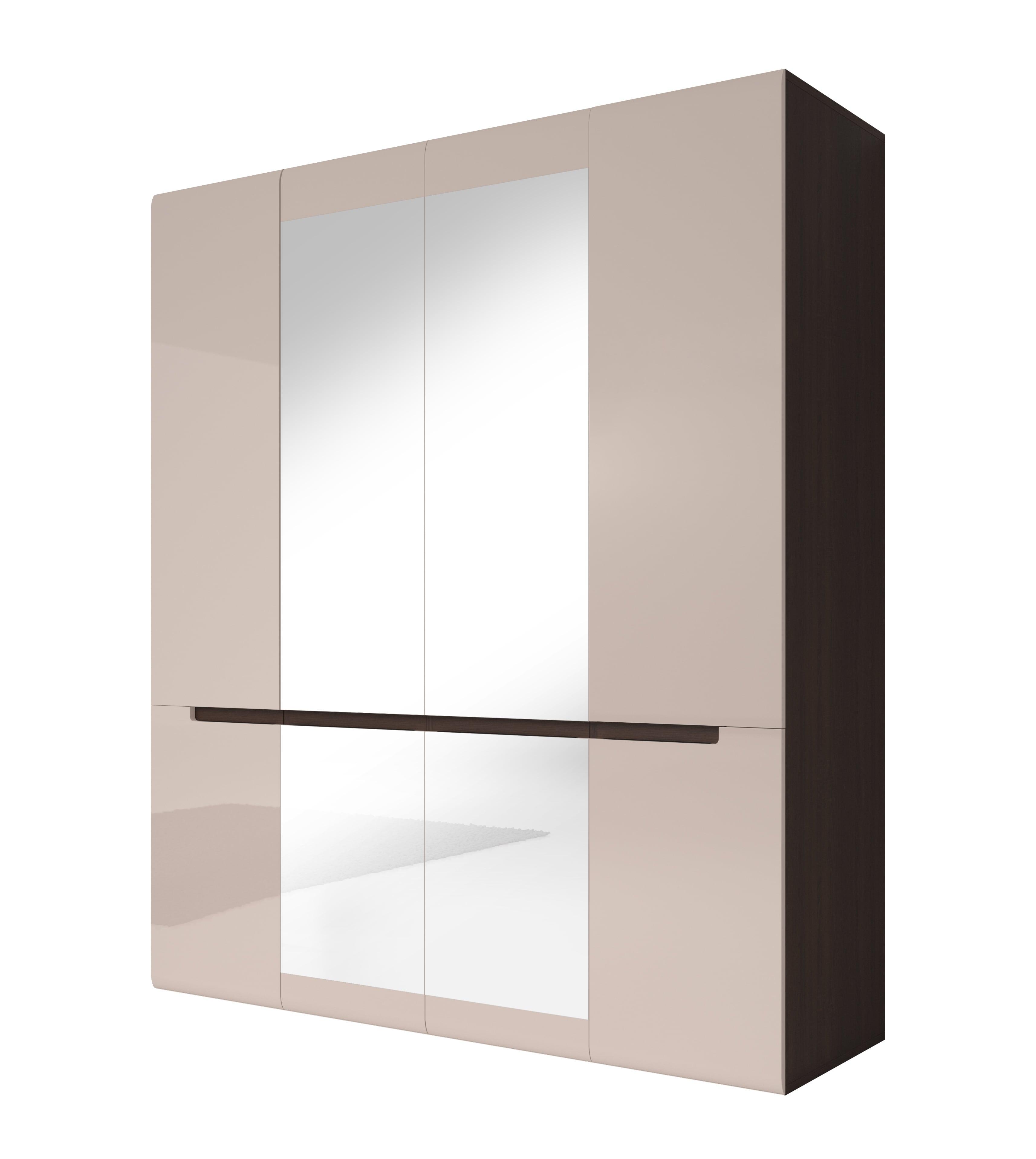 Šatní skříň - Hayle - Typ 20 (dub sonoma tmavá + šedý pískový lesk)