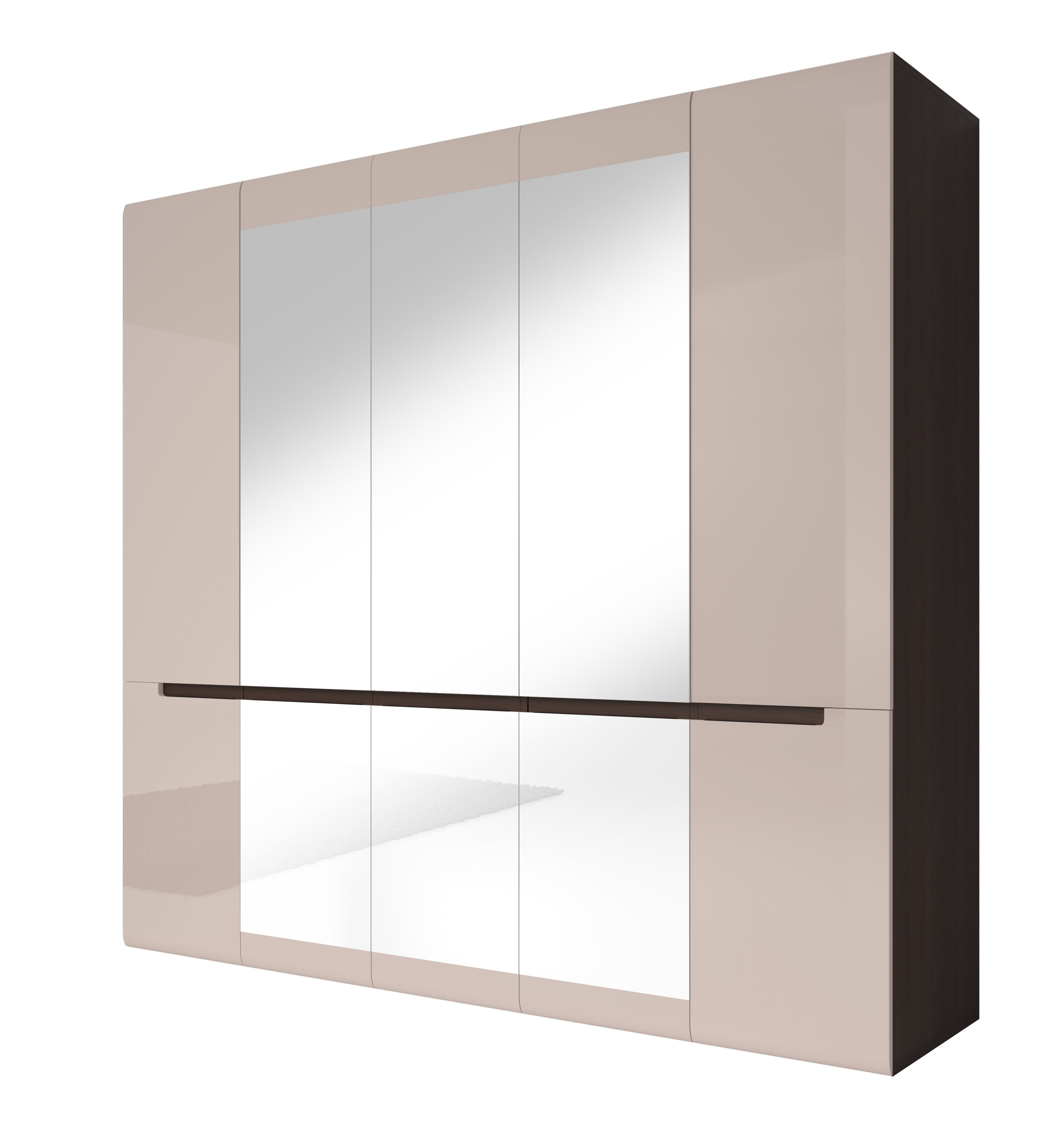 Šatní skříň - Hayle - Typ 21 (dub sonoma tmavá + šedý pískový lesk)
