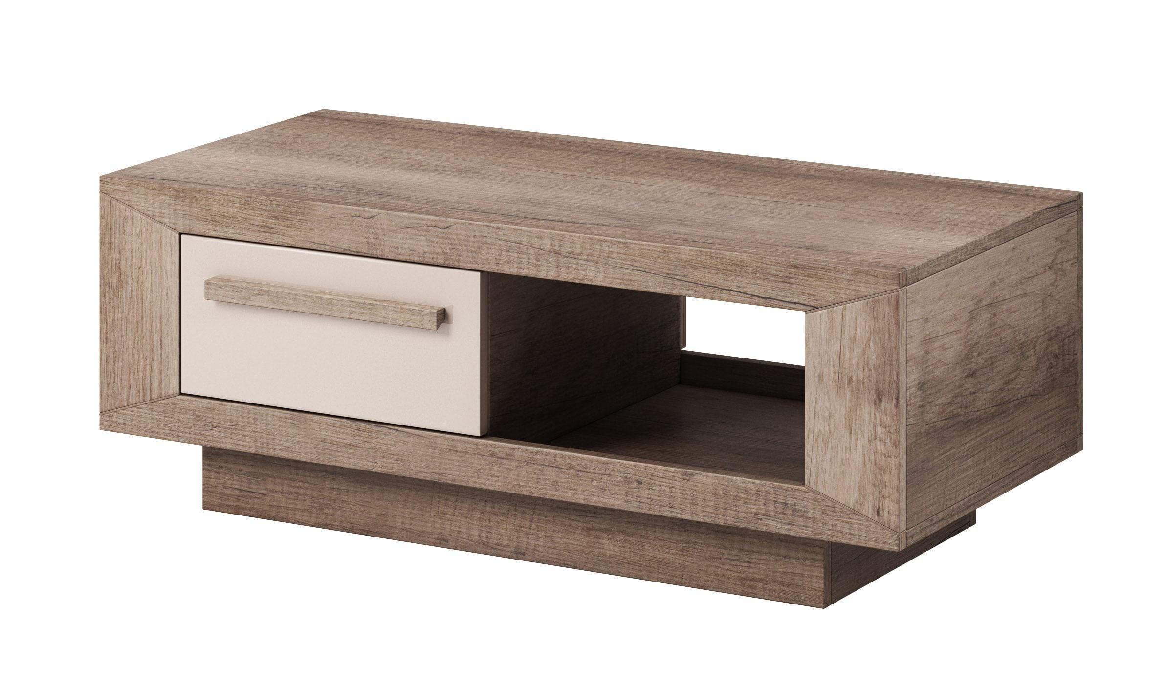 Konferenční stolek - Laurie - Typ 99 (dub canyon monument + lesk šedý pískový)