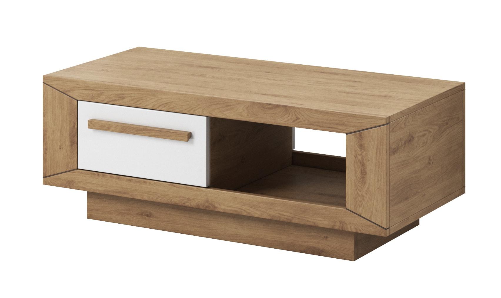 Konferenční stolek - Laurie - Typ 99 (dub Beaufort + bílý lesk)