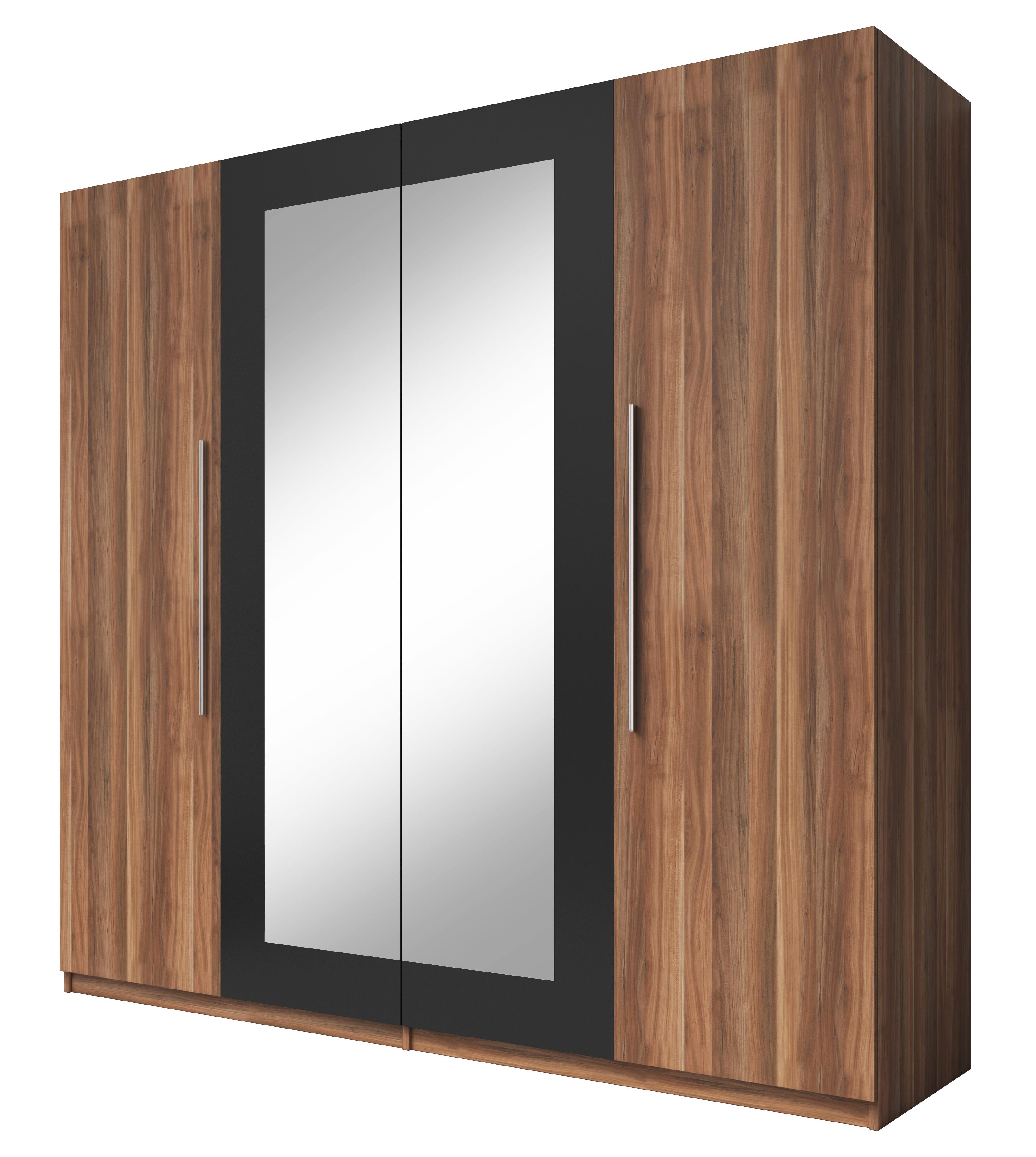 Šatní skříň - Verwood - Typ 20 (ořech + černá)