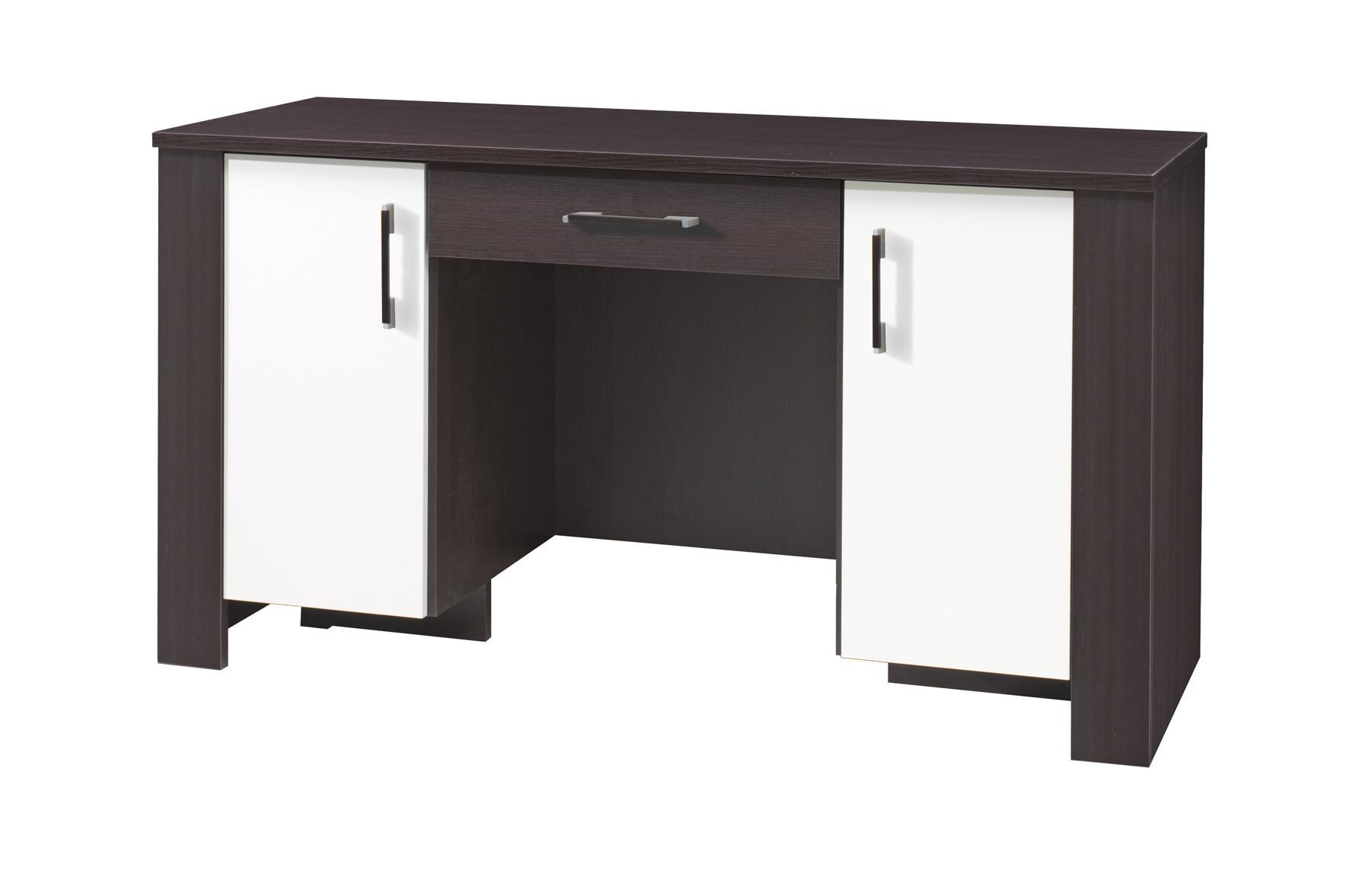 PC stolek - Camber - C17 (milano + krémová) (se zásuvkou)