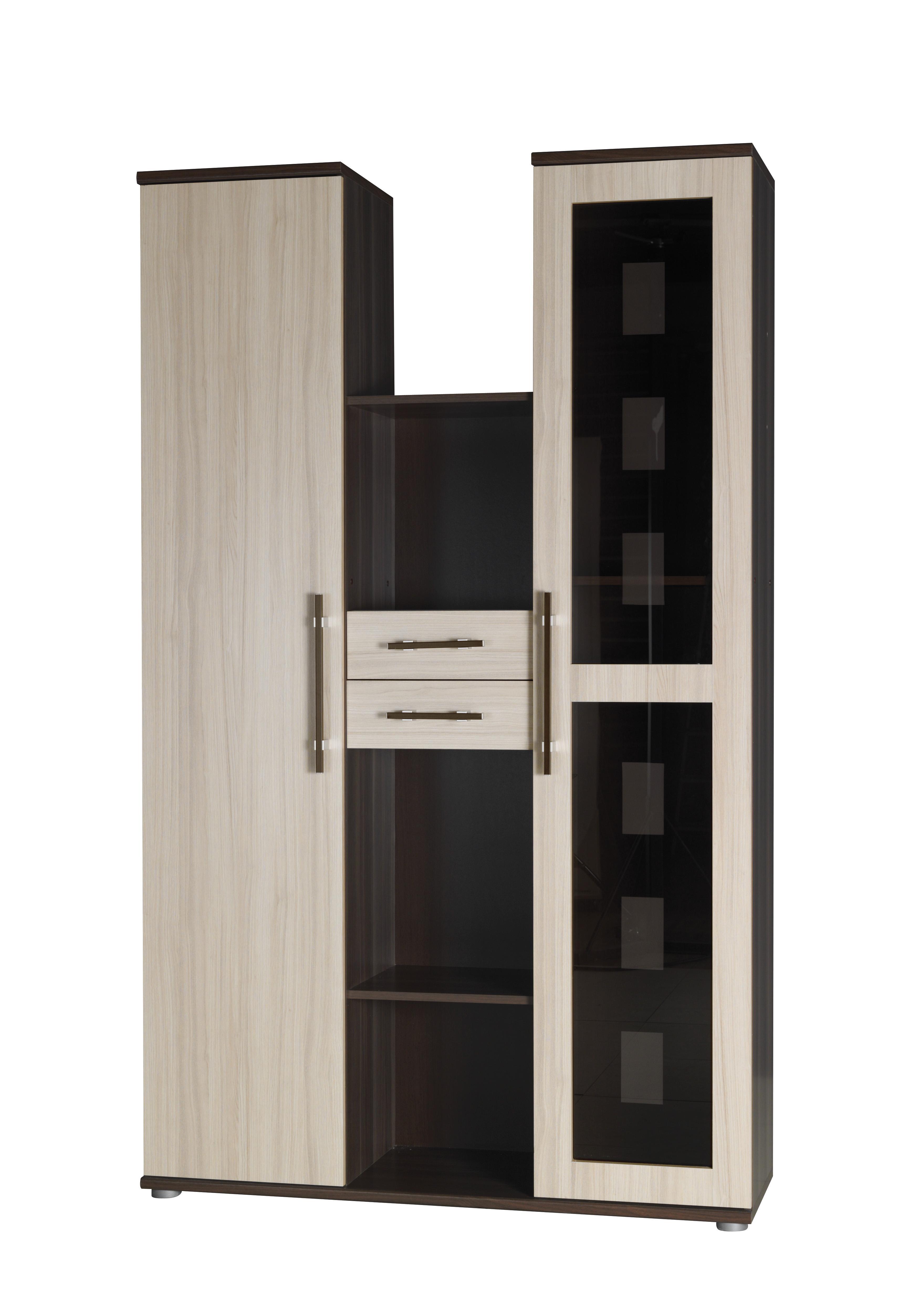 Vitrína - Irvine - I5 (jasan tmavý + jasan)