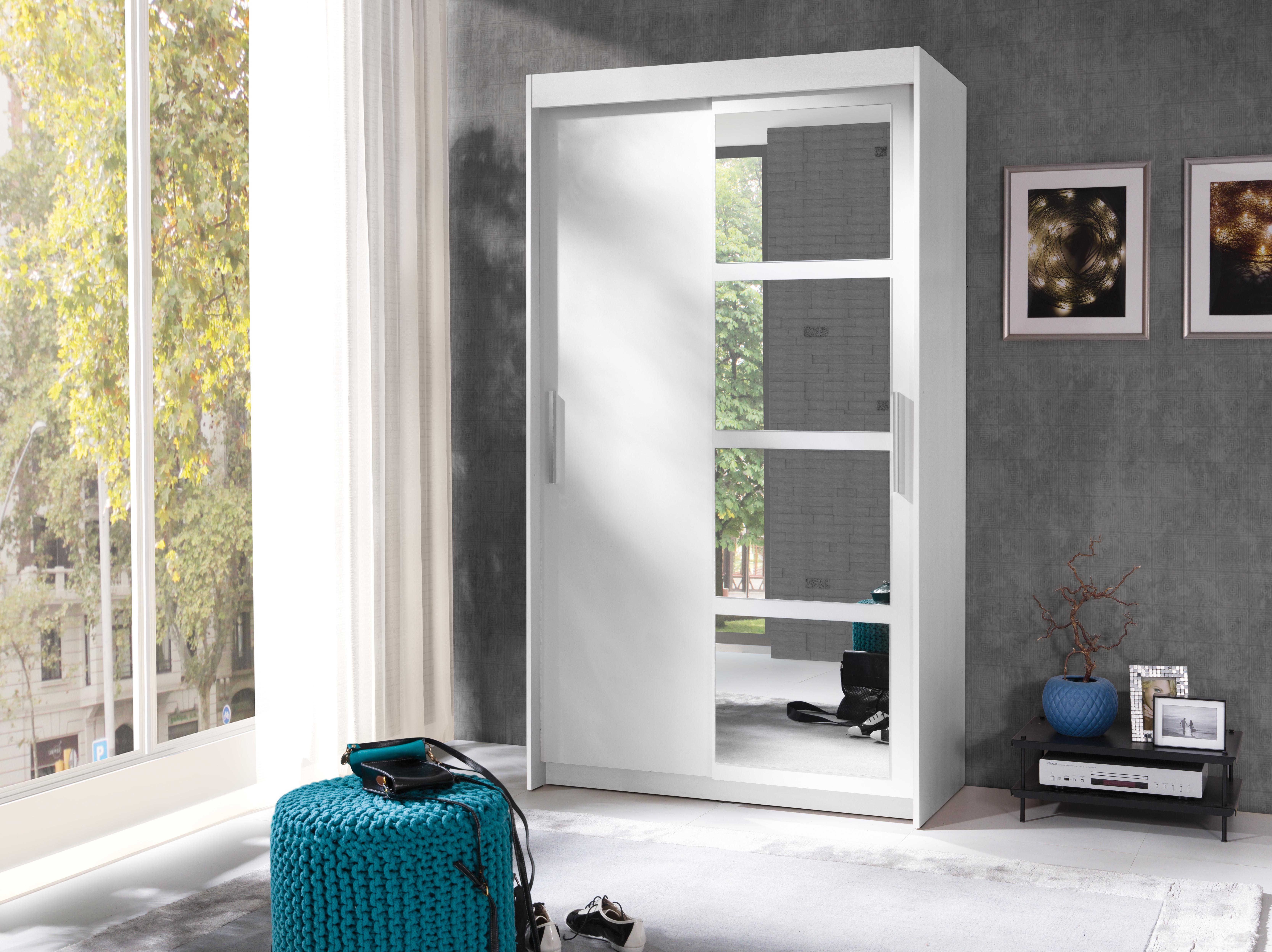 Šatní skříň - Norham (bílá)