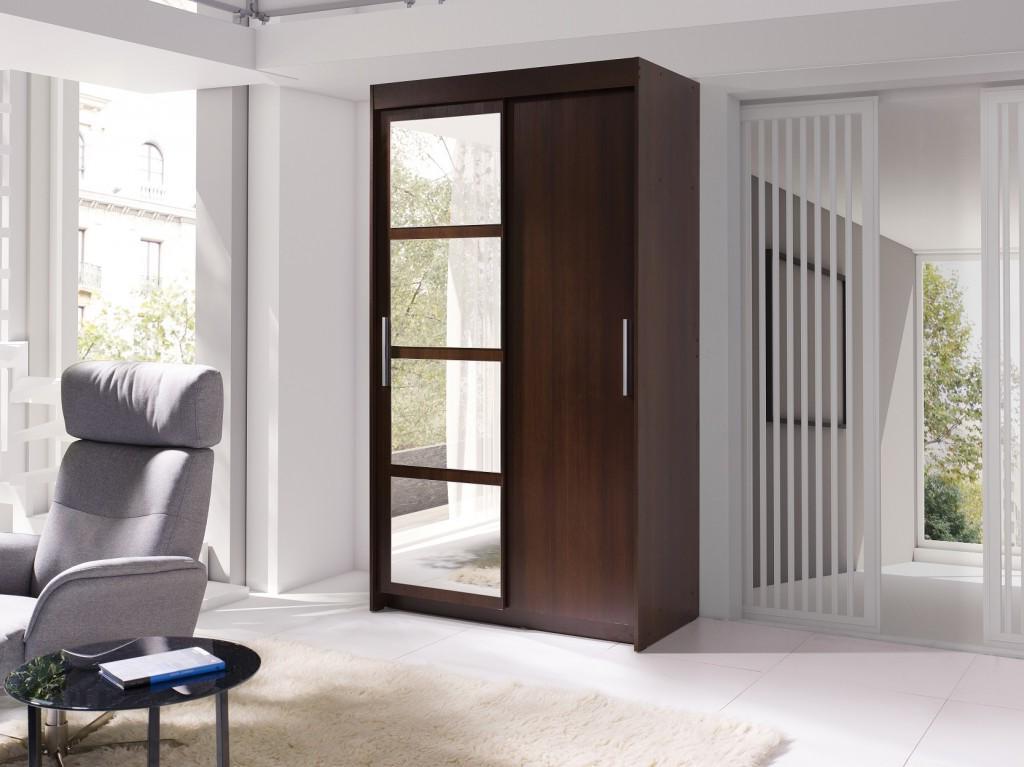 Šatní skříň - Norham (wenge)