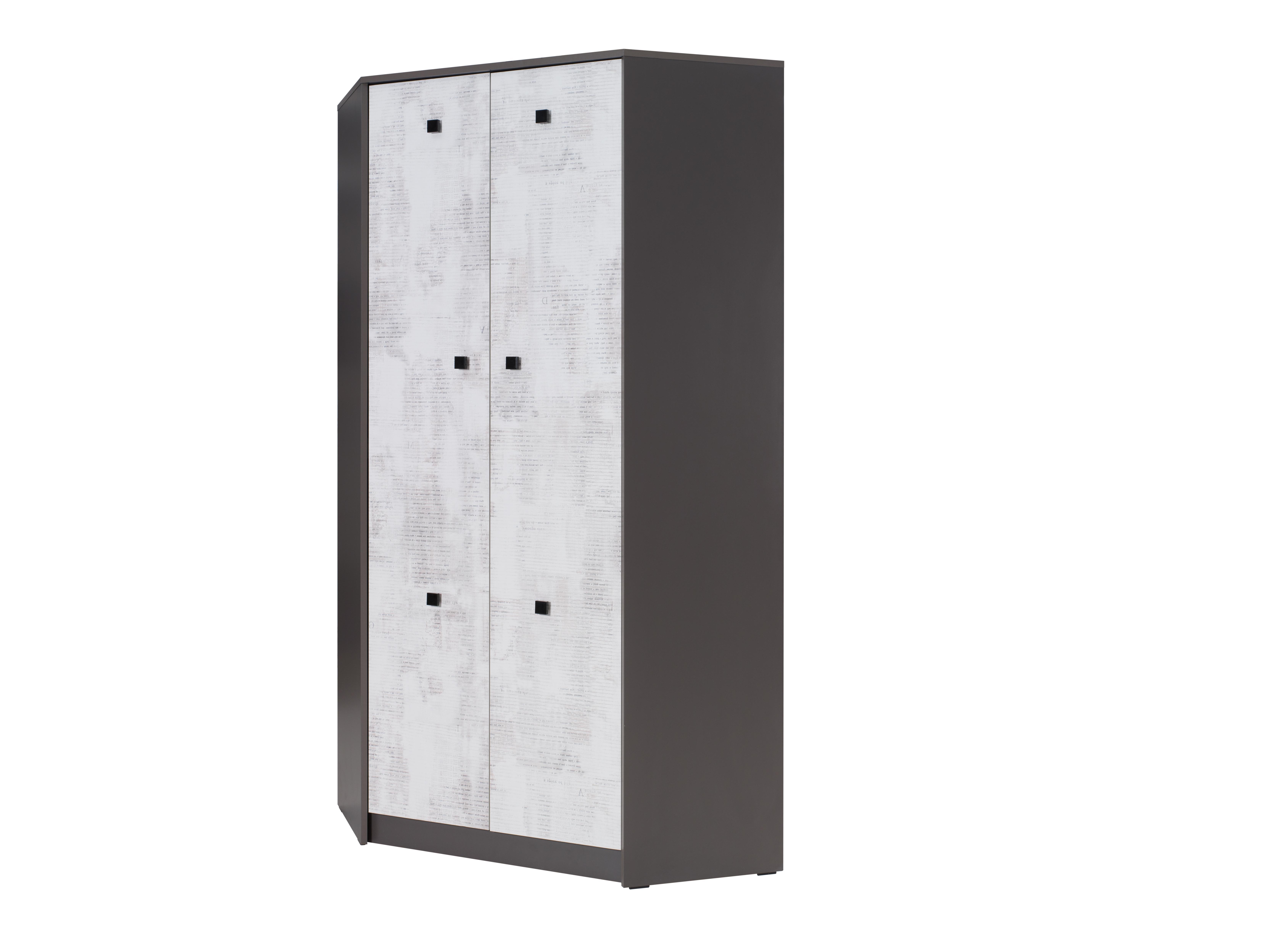 Rohová šatní skříň - Torton - T4