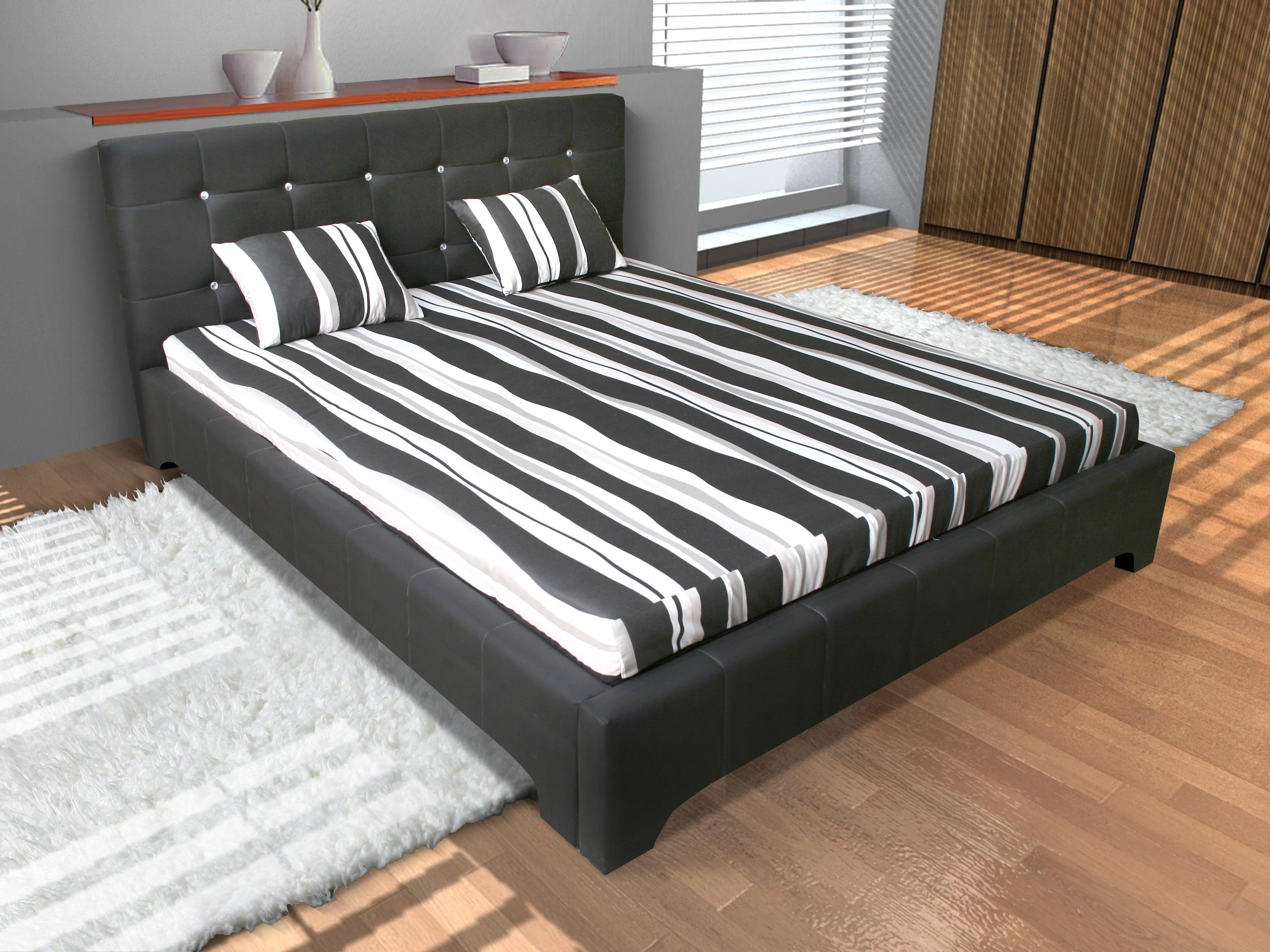 Manželská postel 140 cm - Lilia R1 (s matrací a roštem)