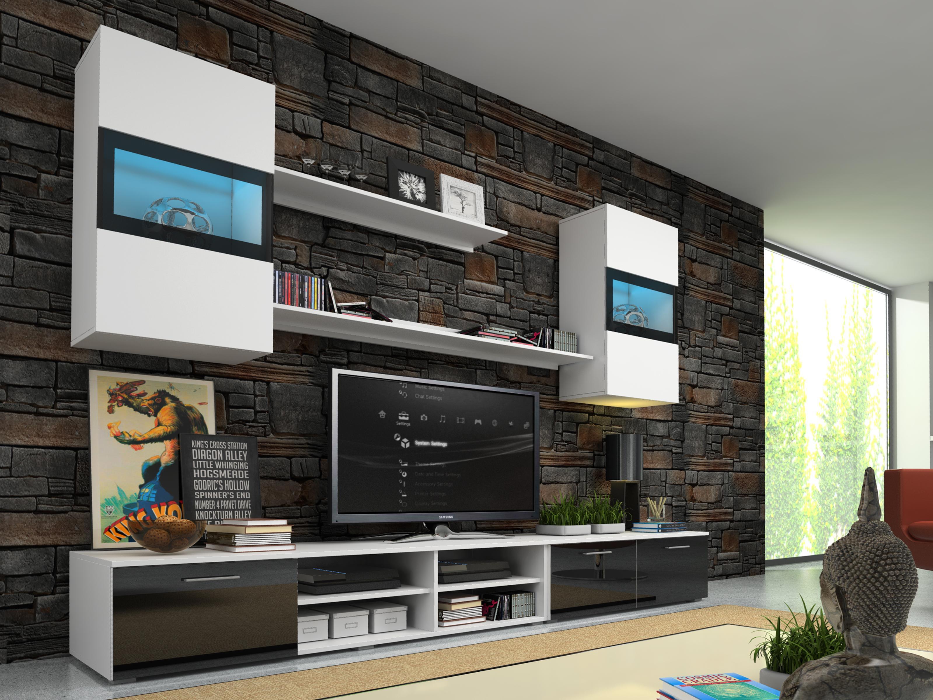 Obývací stěna - Omira (s osvětlením)