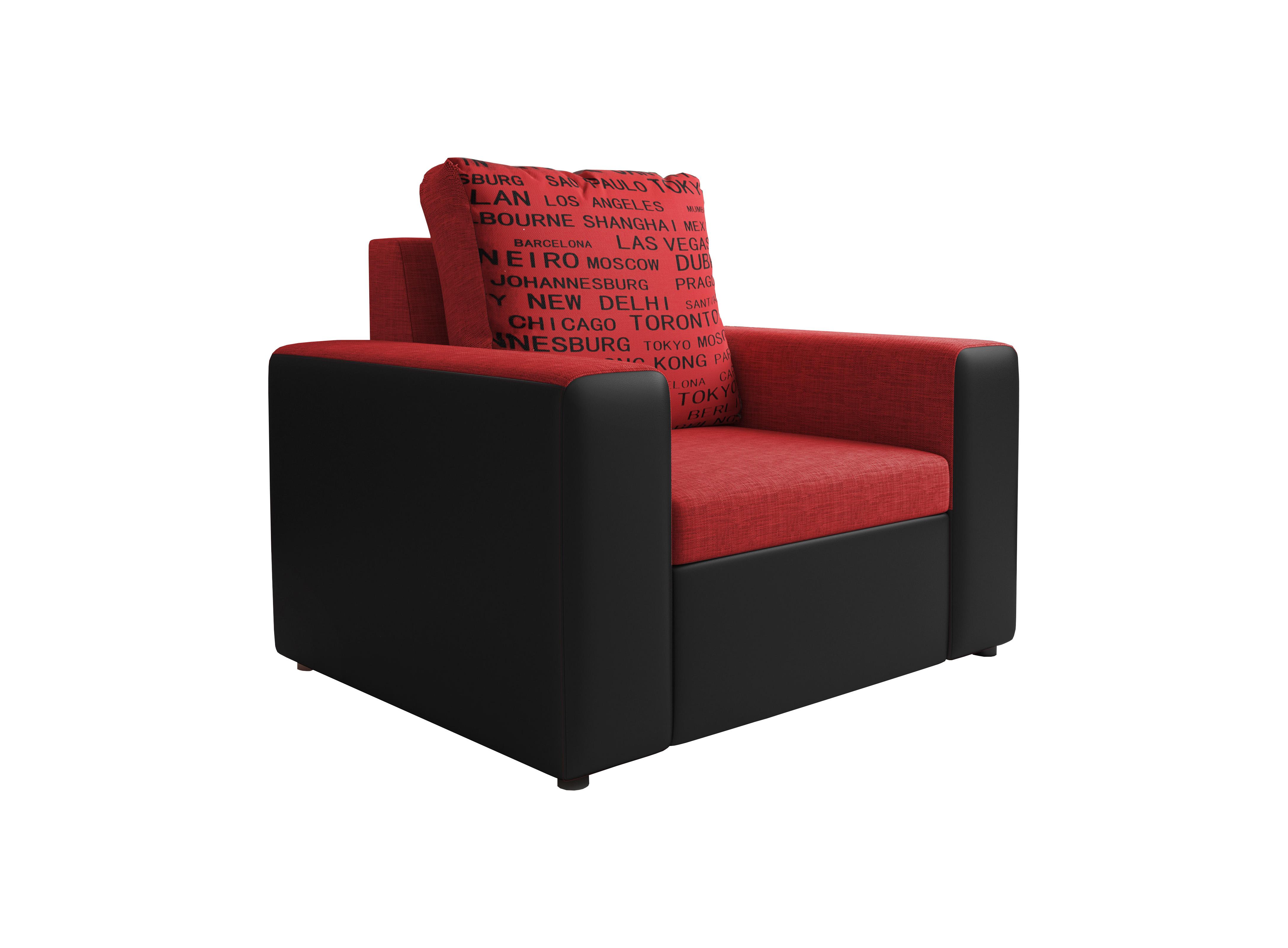 Křeslo - Lavenda (červená + černá)