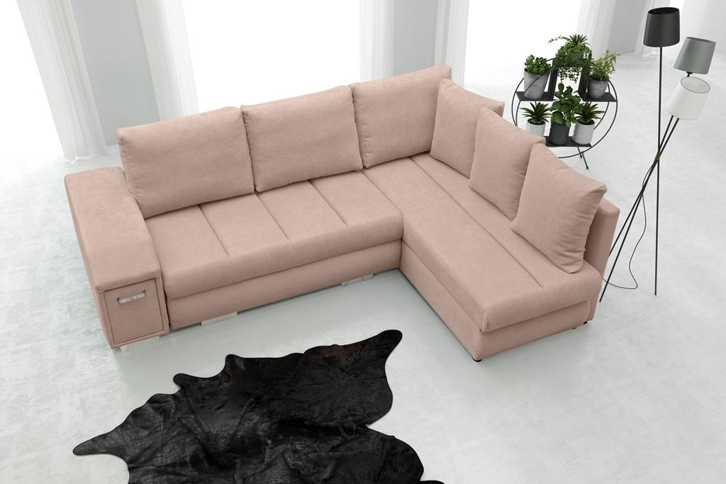 Rohová sedací souprava - Arlene (růžová) (P)