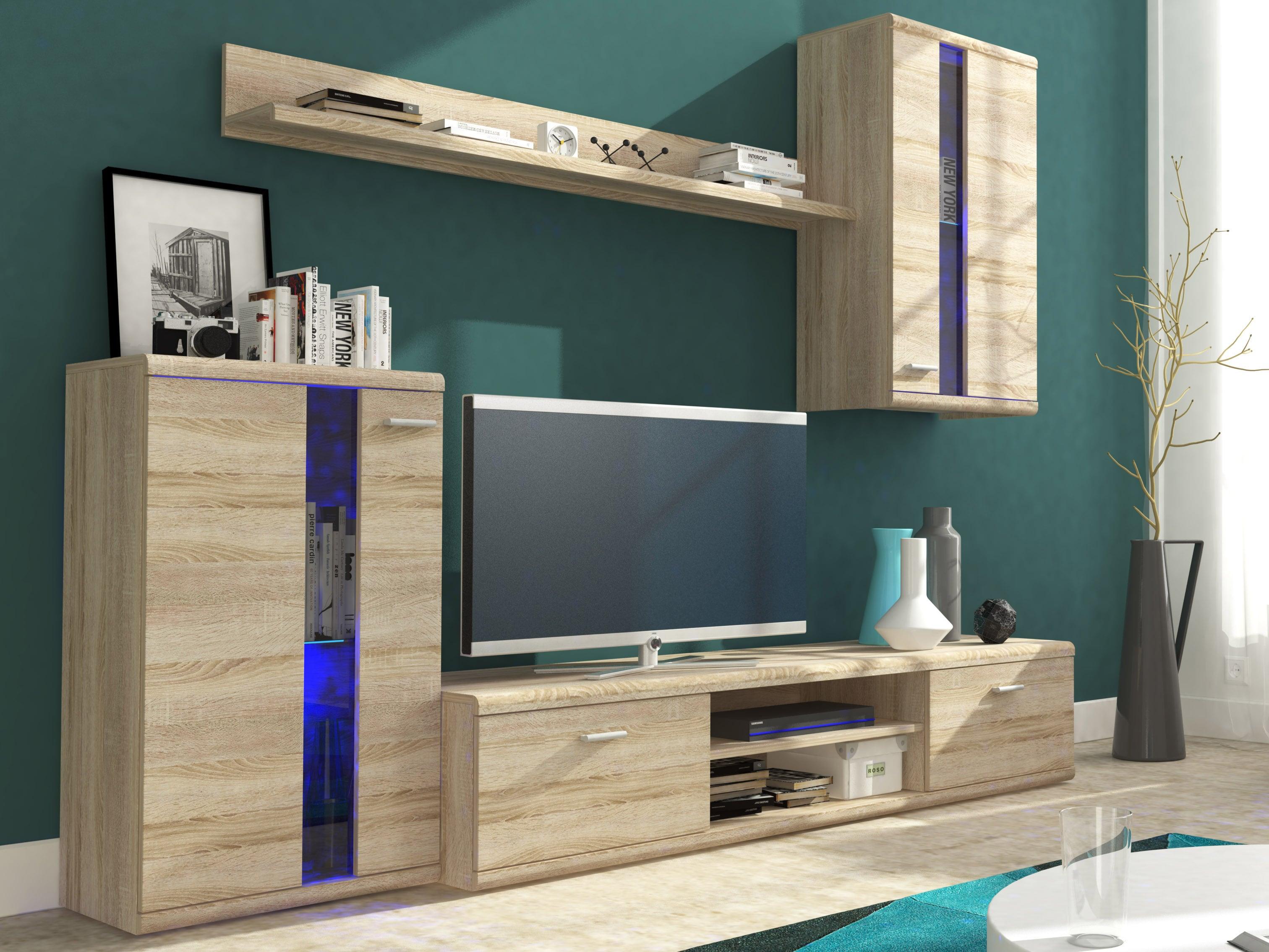 Obývací stěna - Liss (dub sonoma)