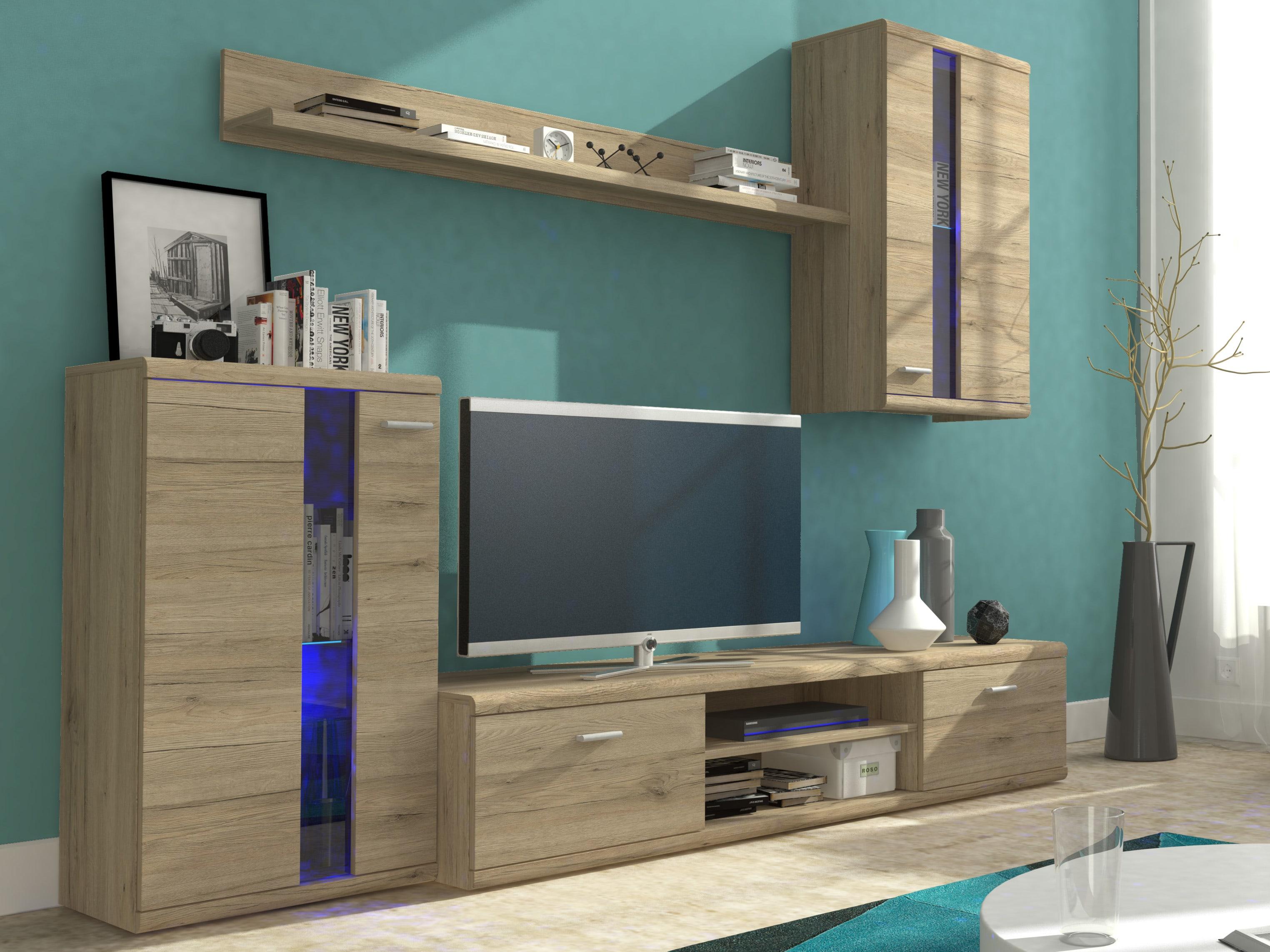 Obývací stěna - Liss (dub san remo)