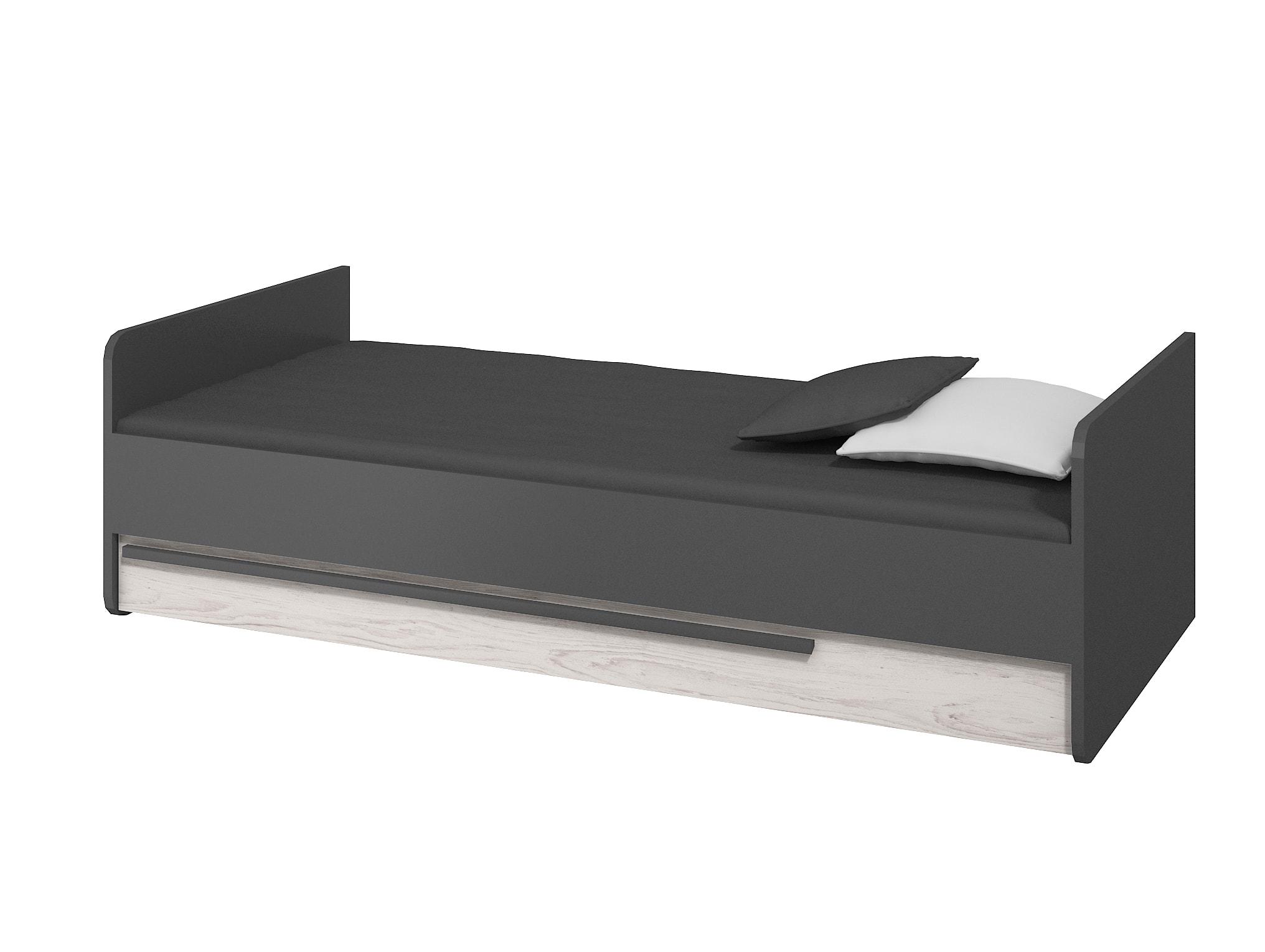 Jednolůžková postel 90 cm - Trent (s roštem a matrací)