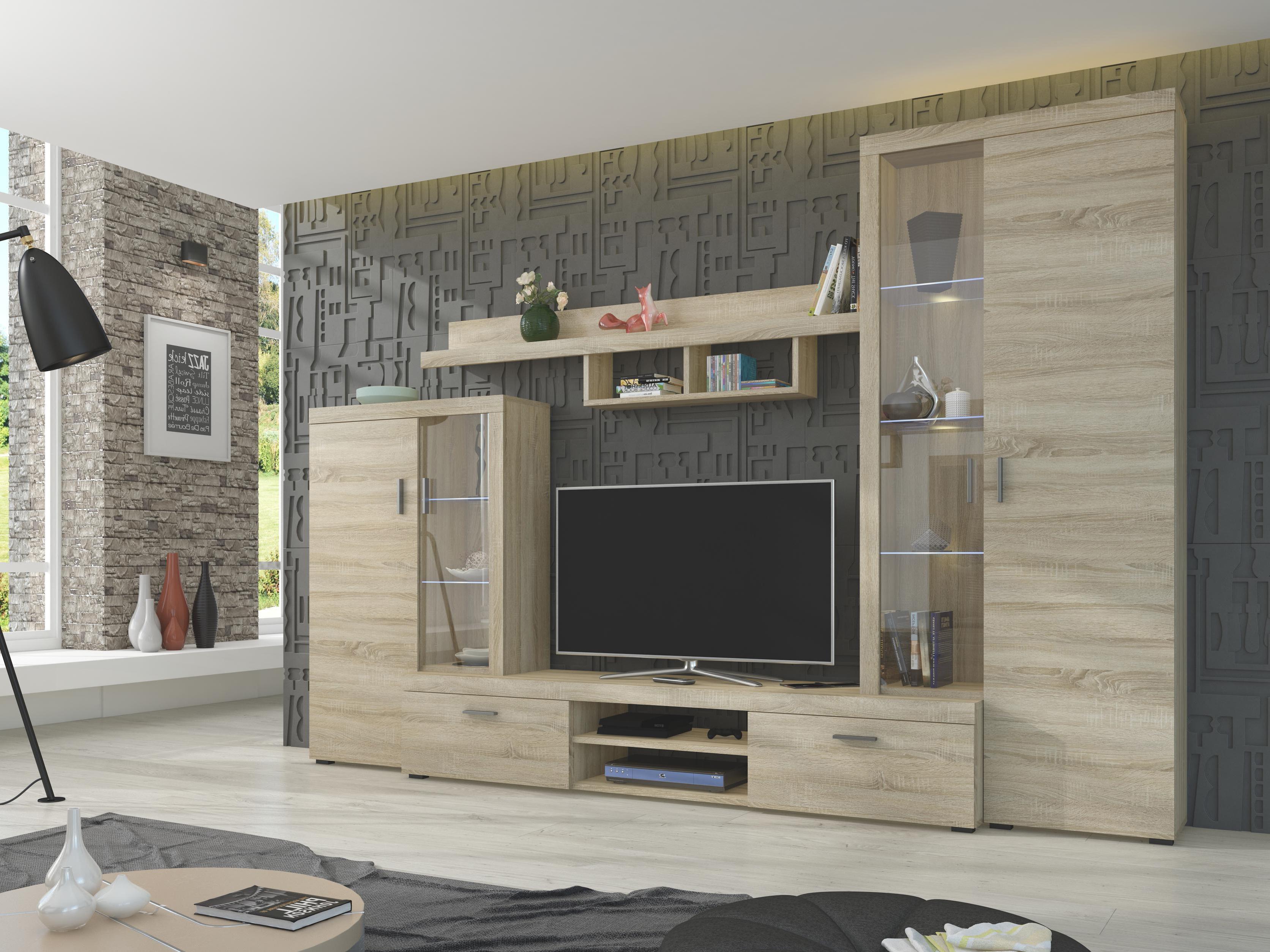 Obývací stěna - Alton (dub sonoma)