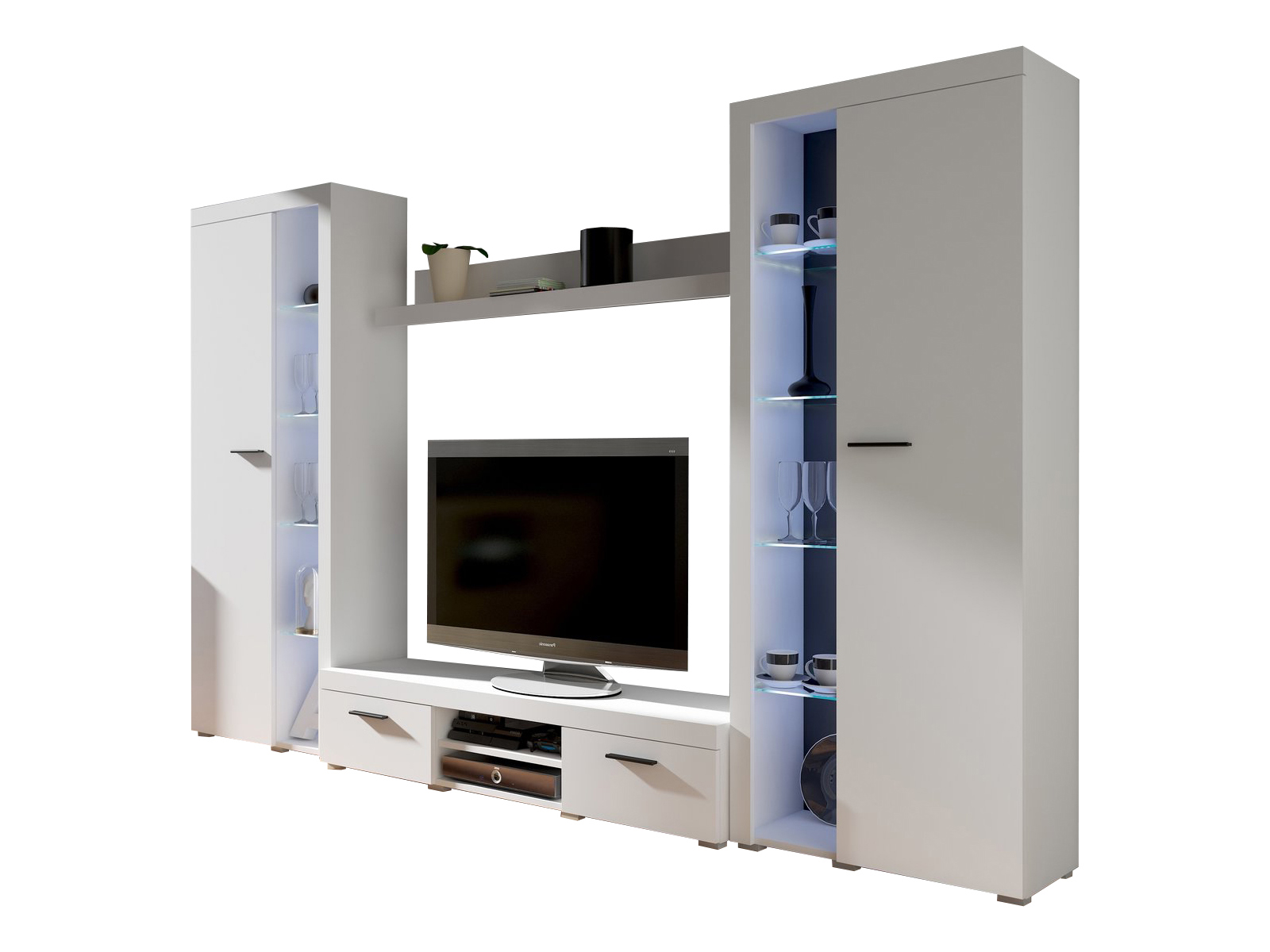 Obývací stěna - Rudby XL (bílá)
