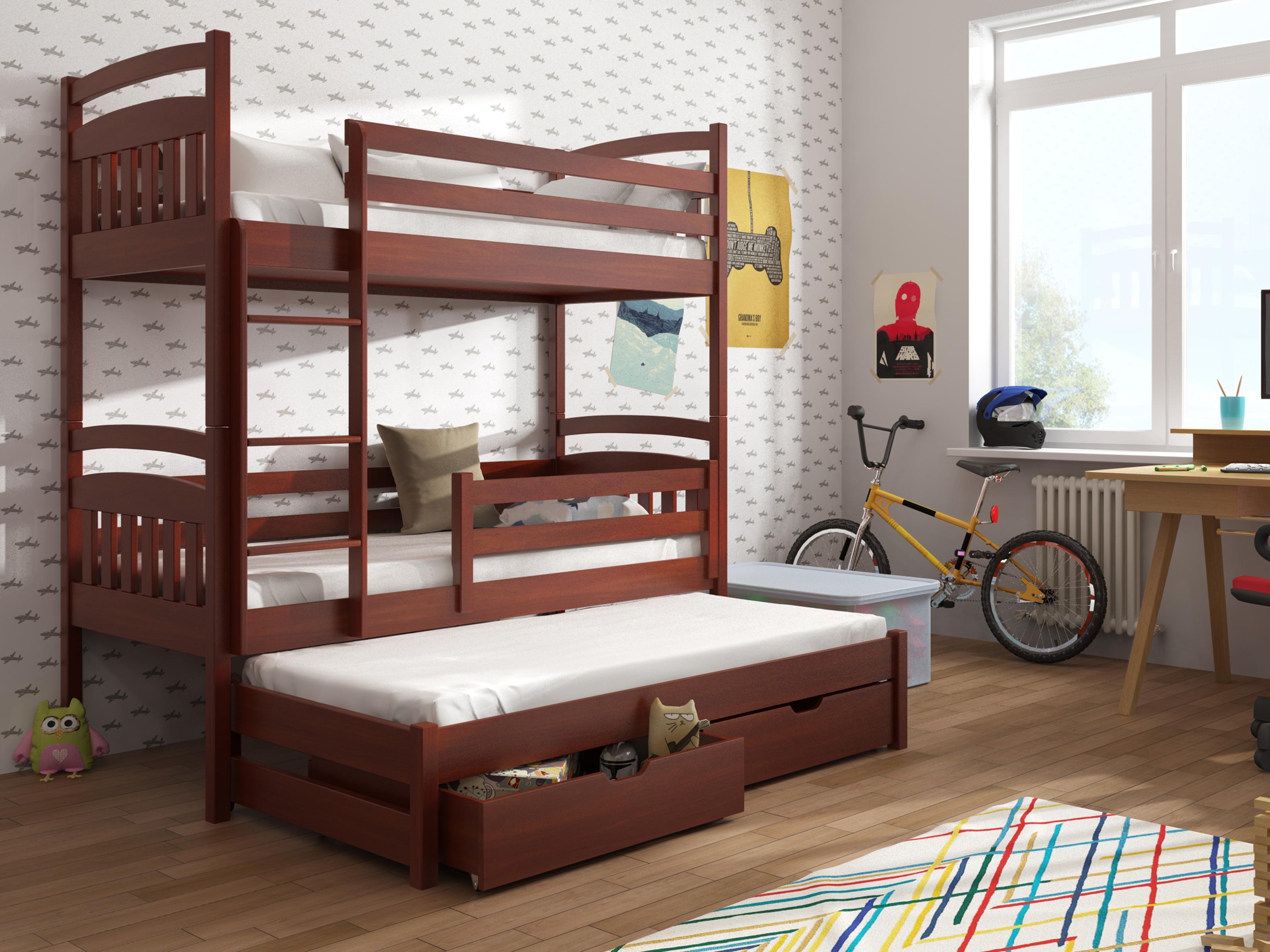 Dětská patrová postel 90 cm - Anie (calvados)
