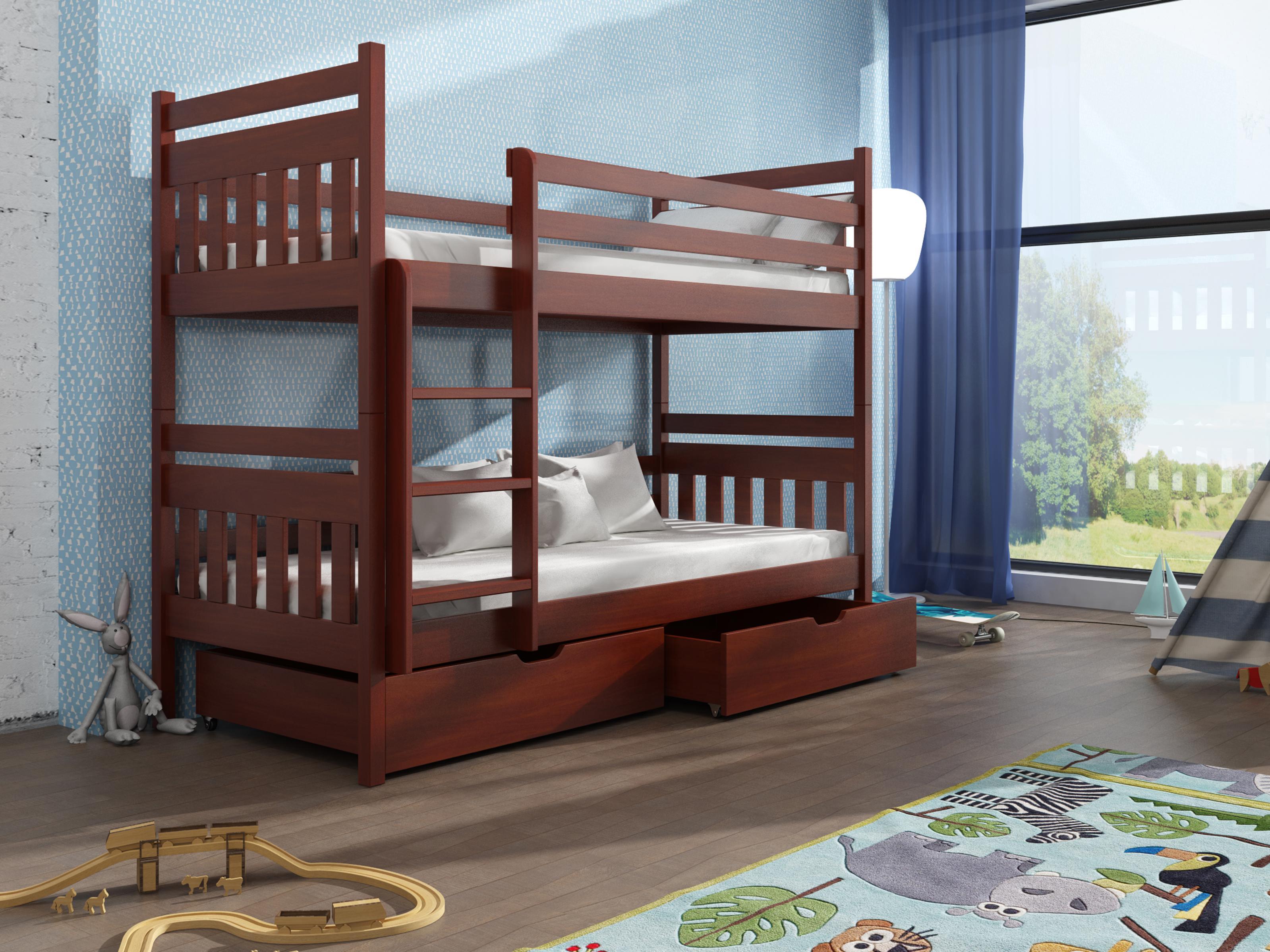 Dětská patrová postel 90 cm - Aras (calvados)