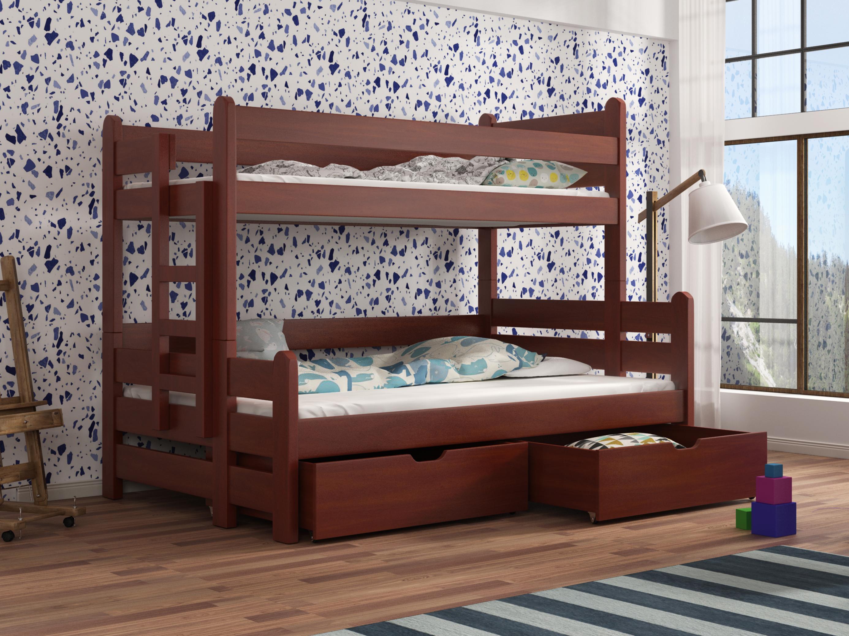 Dětská patrová postel 90 cm - Bivi (calvados)