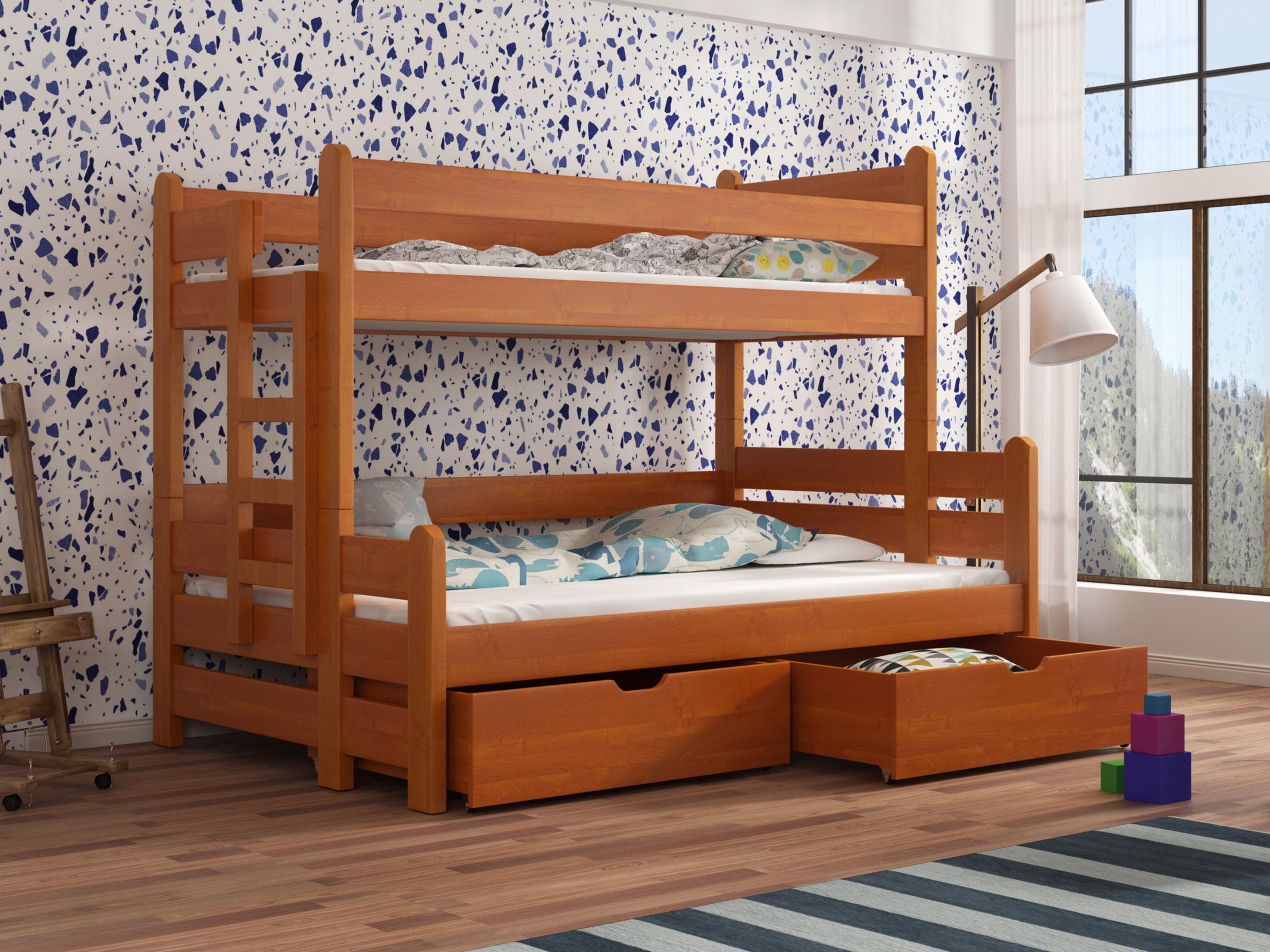 Dětská patrová postel 90 cm - Bivi (olše)