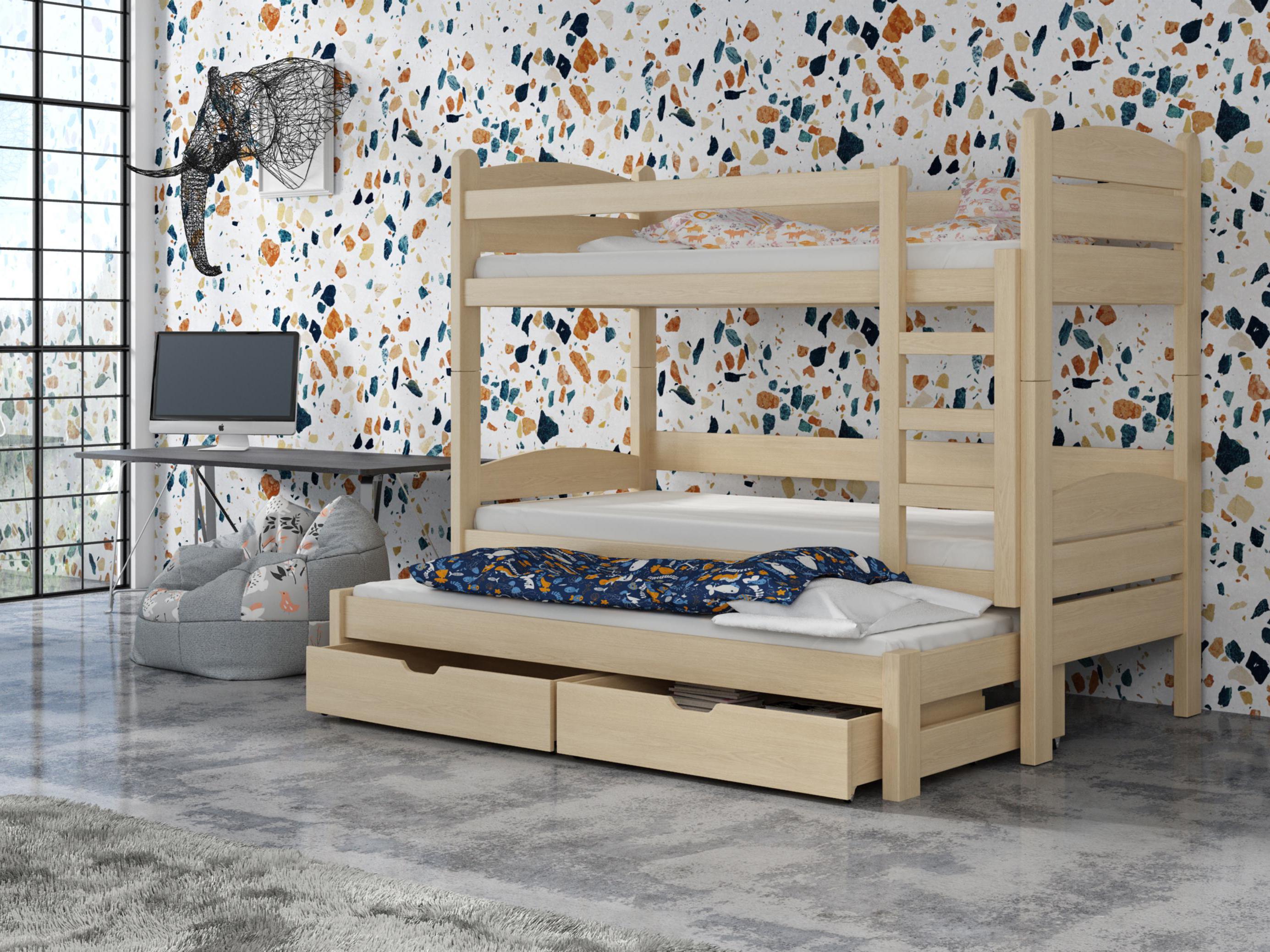 Dětská patrová postel 90 cm - Celsa (borovice)