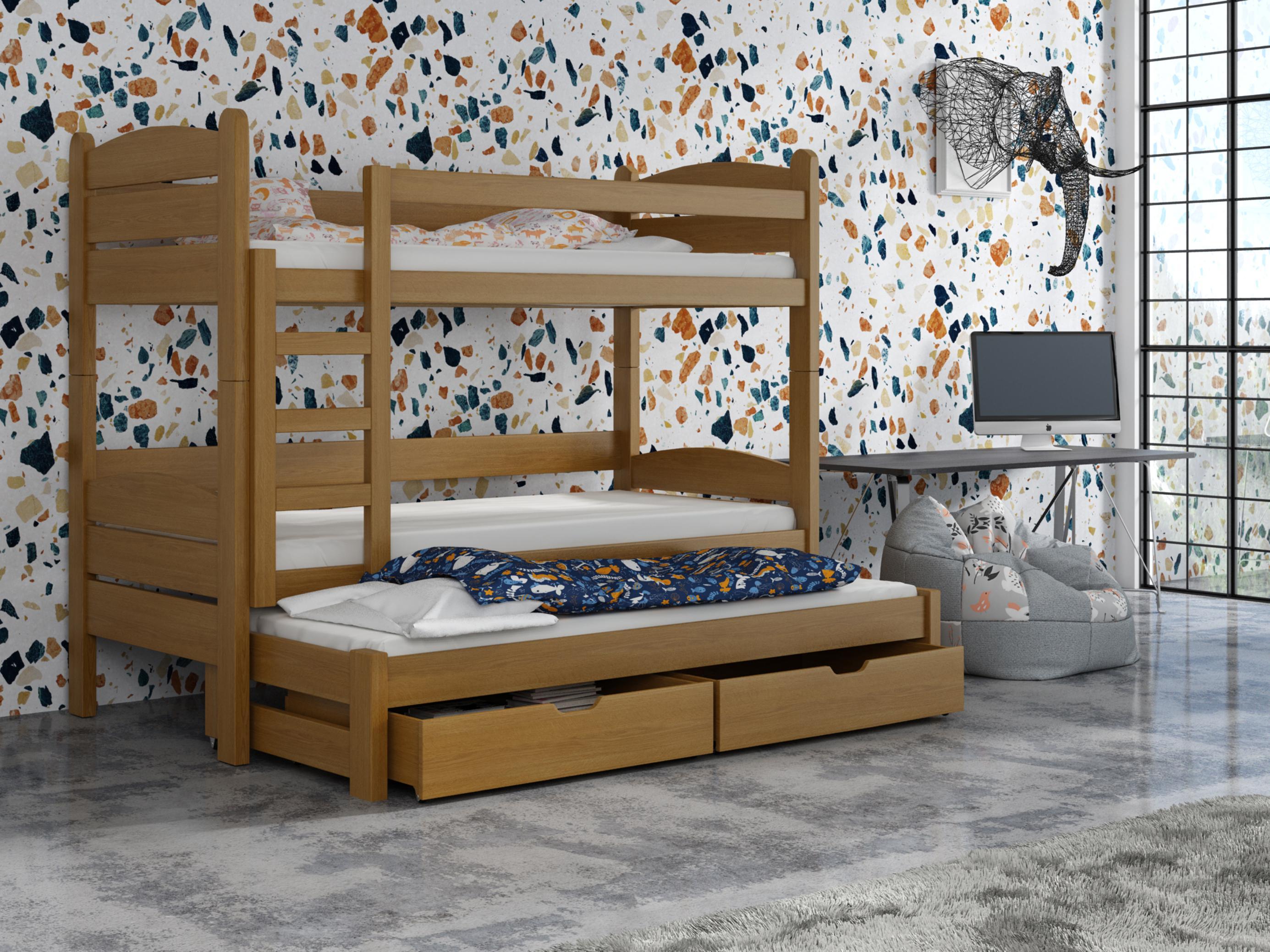 Dětská patrová postel 90 cm - Celsa (dub)