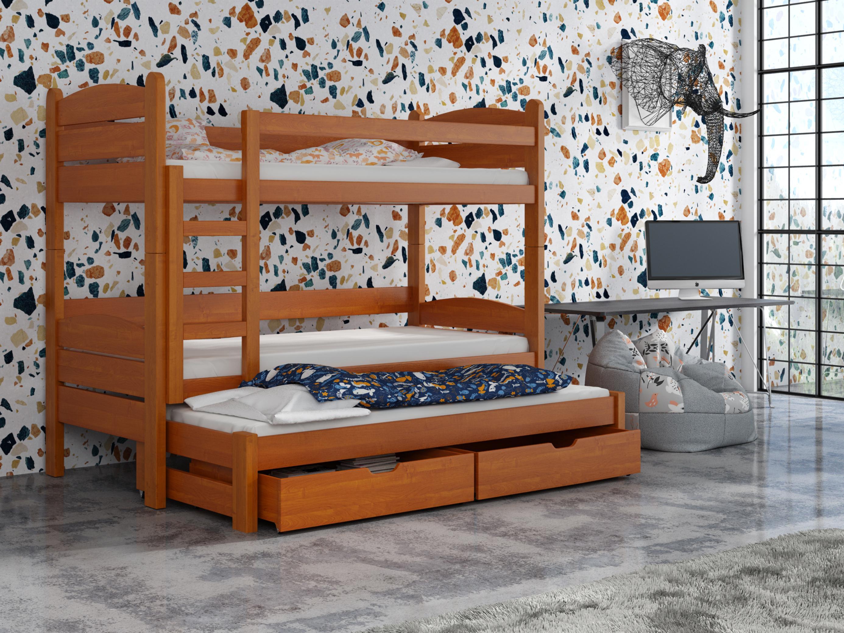 Dětská patrová postel 90 cm - Celsa (olše)