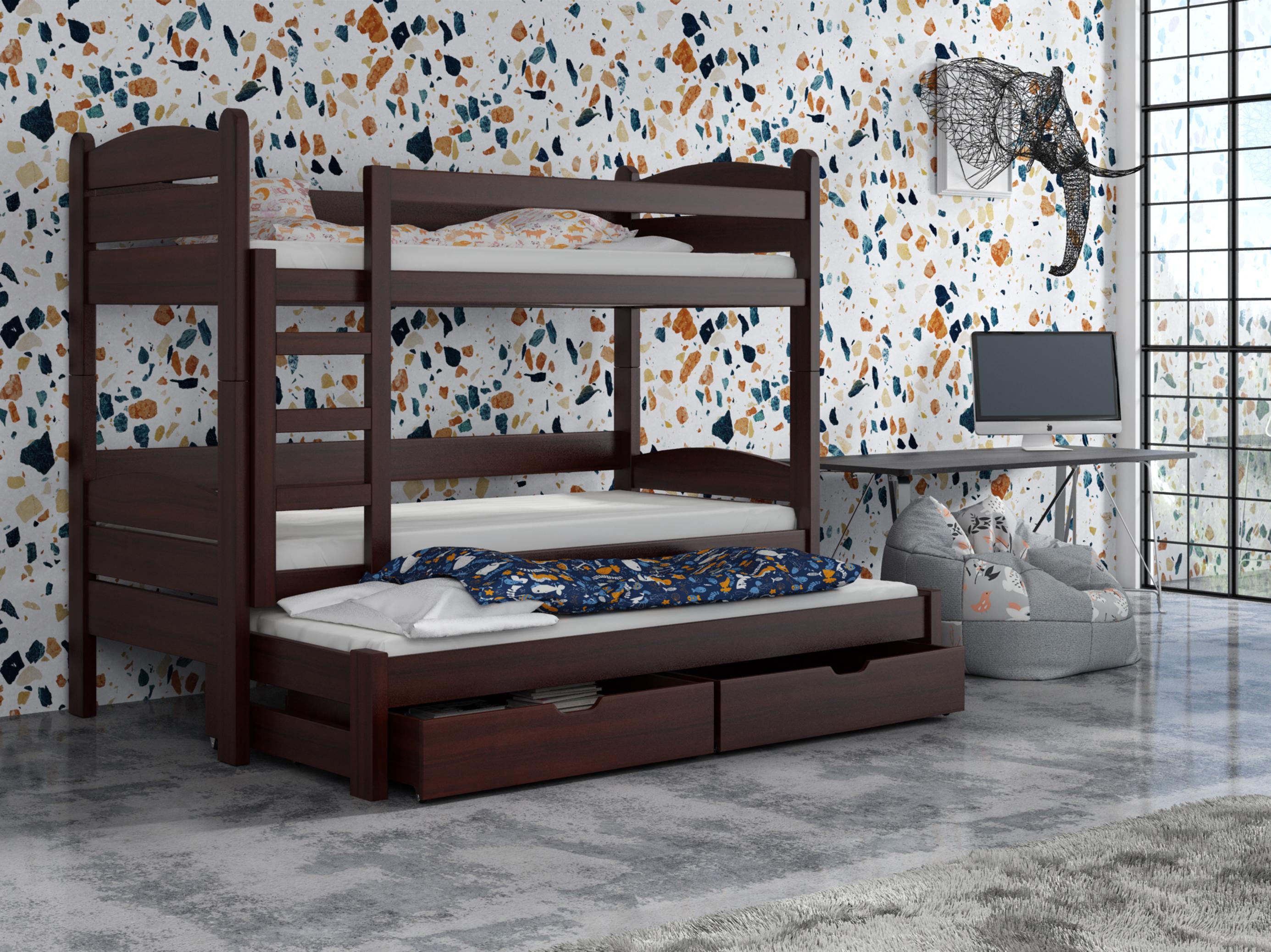 Dětská patrová postel 90 cm - Celsa (ořech)