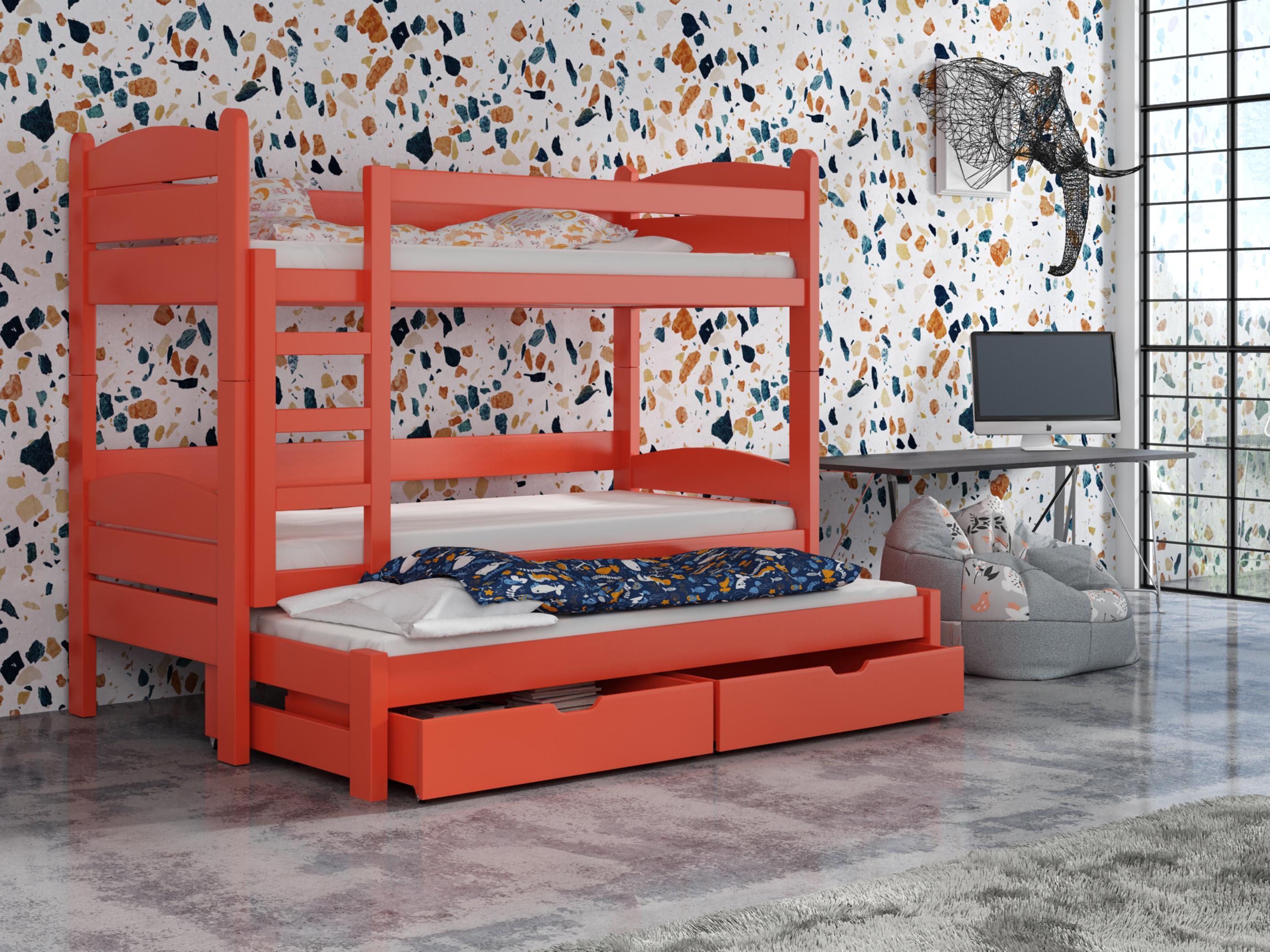 Dětská patrová postel 90 cm - Celsa (pomeranč)