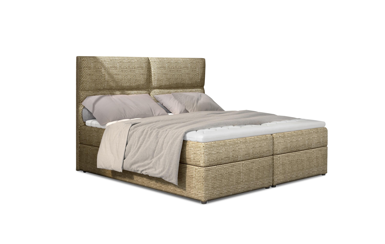 Manželská postel Boxspring 145 cm - Alyce (béžová) (s matracemi)