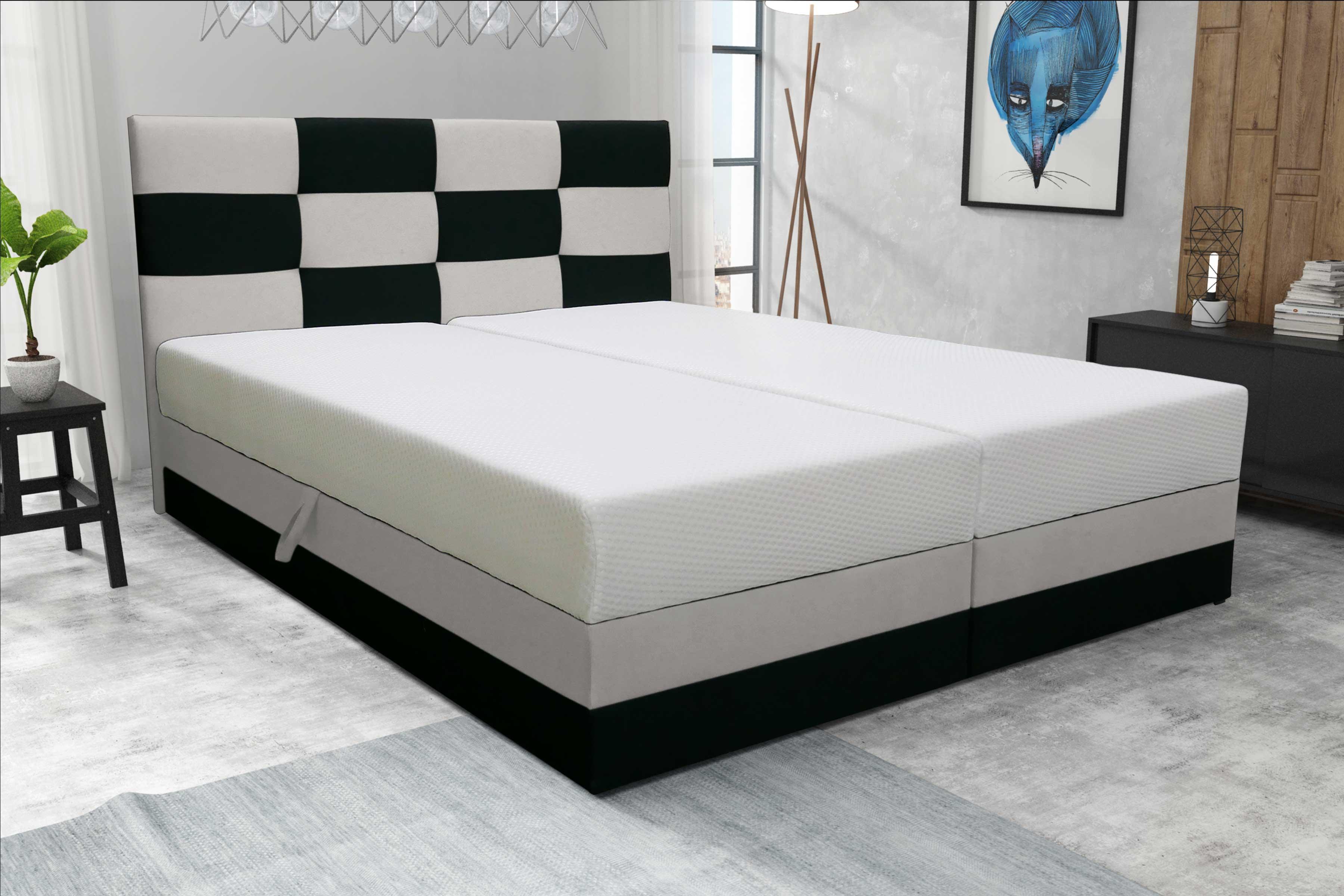 Manželská postel 140 cm - Marion (s roštem a matrací)