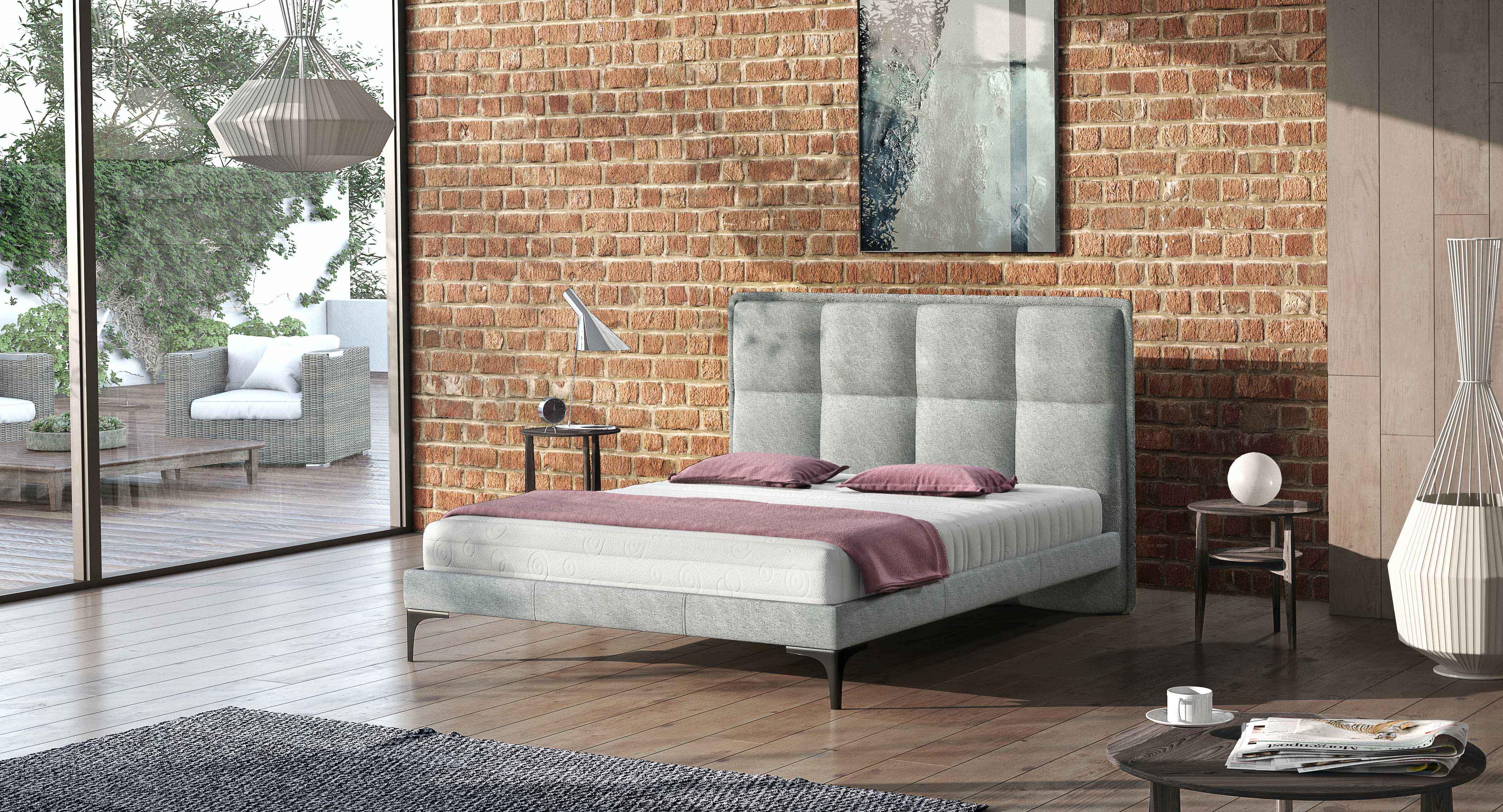 Manželská postel 140 cm - Arlington (s roštem)