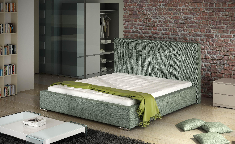 Manželská postel 140 cm - Baston (s roštem)